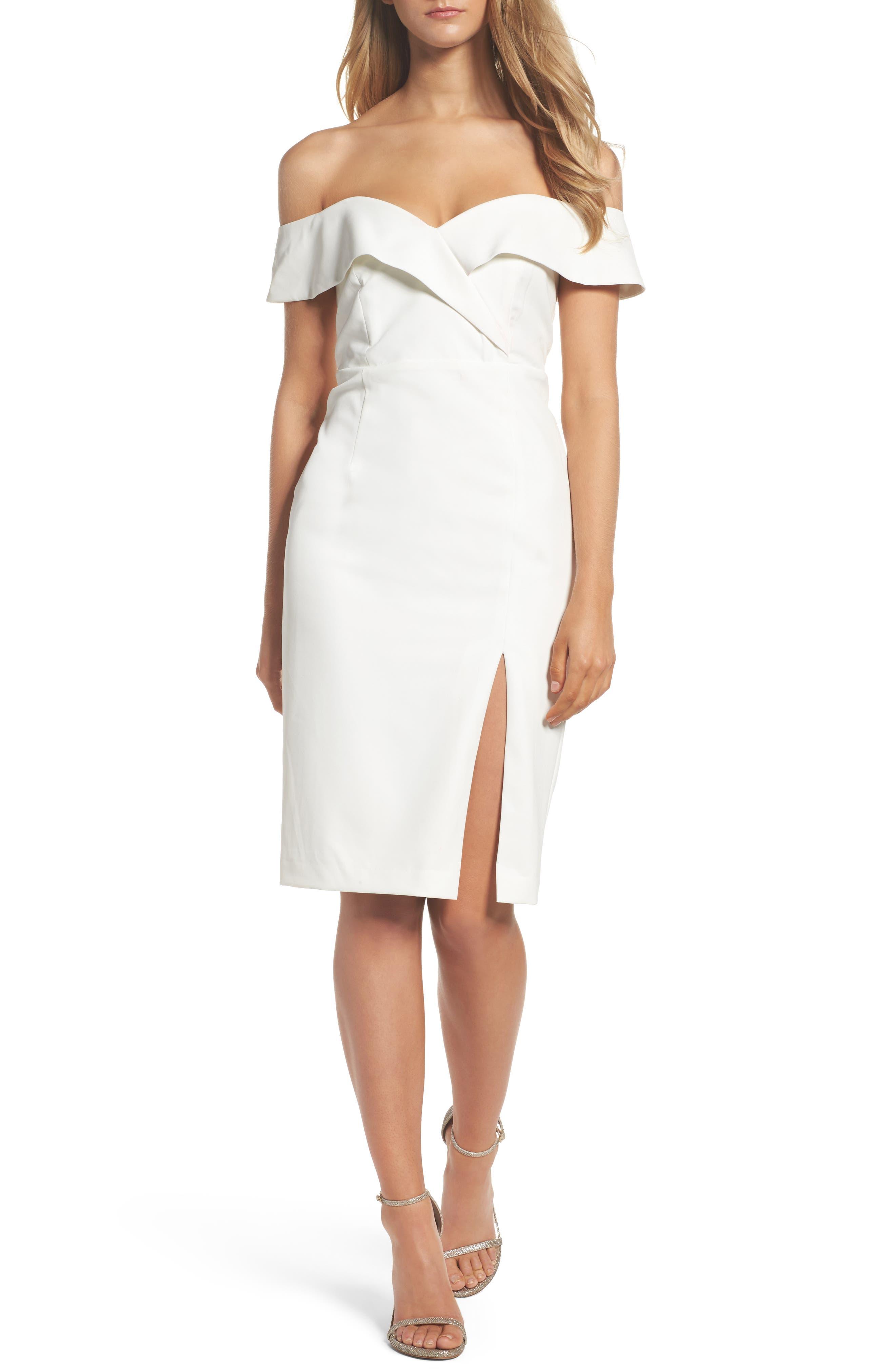 Bella Midi Dress,                         Main,                         color, Ivory