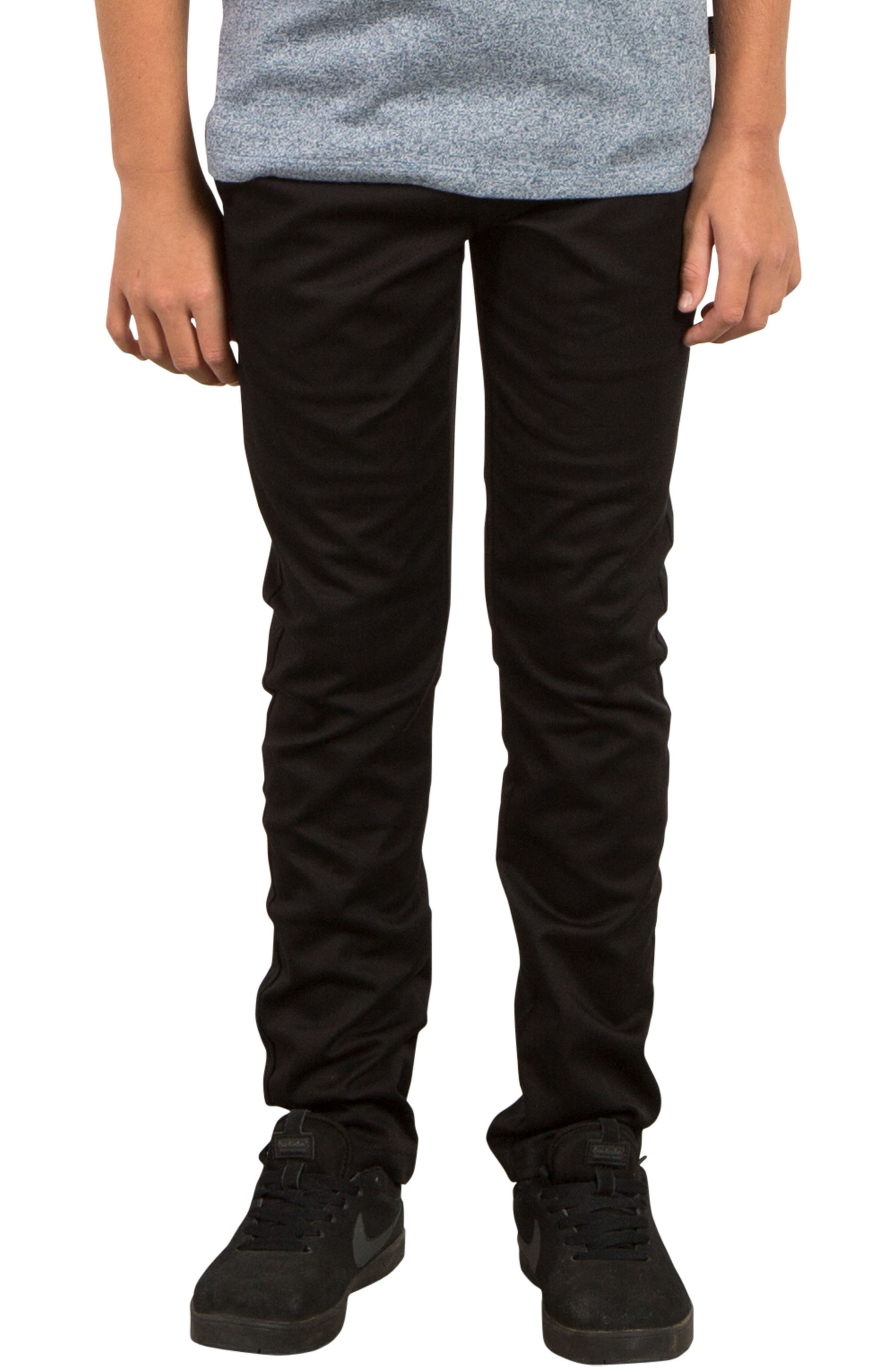 Main Image - Volcom Slim Fit Stretch Chinos (Big Boys)