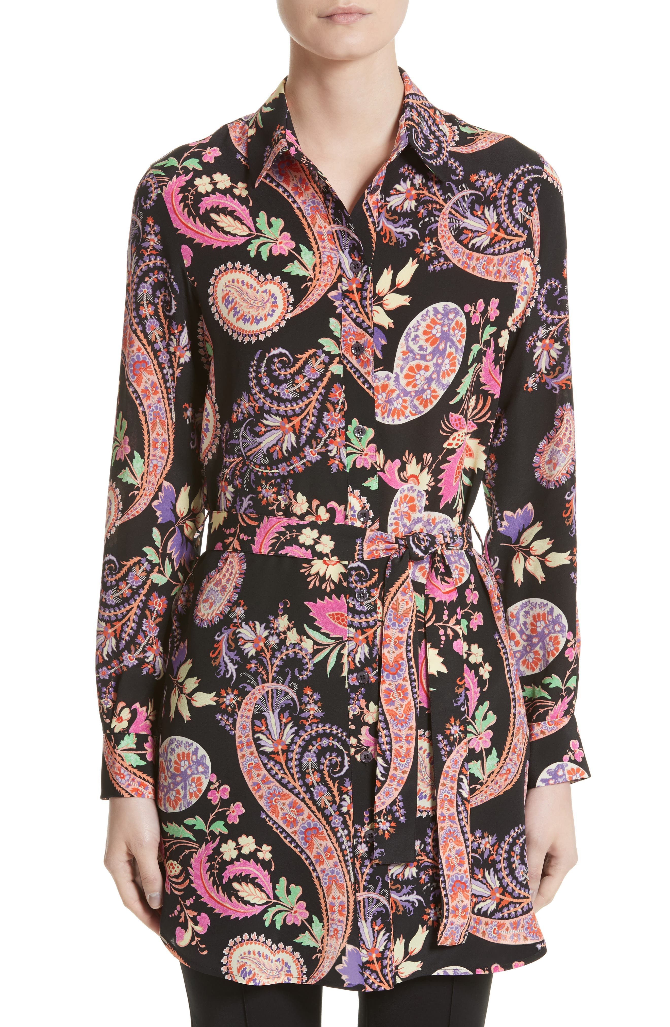 Alternate Image 1 Selected - Etro Floral Paisley Print Silk Tunic