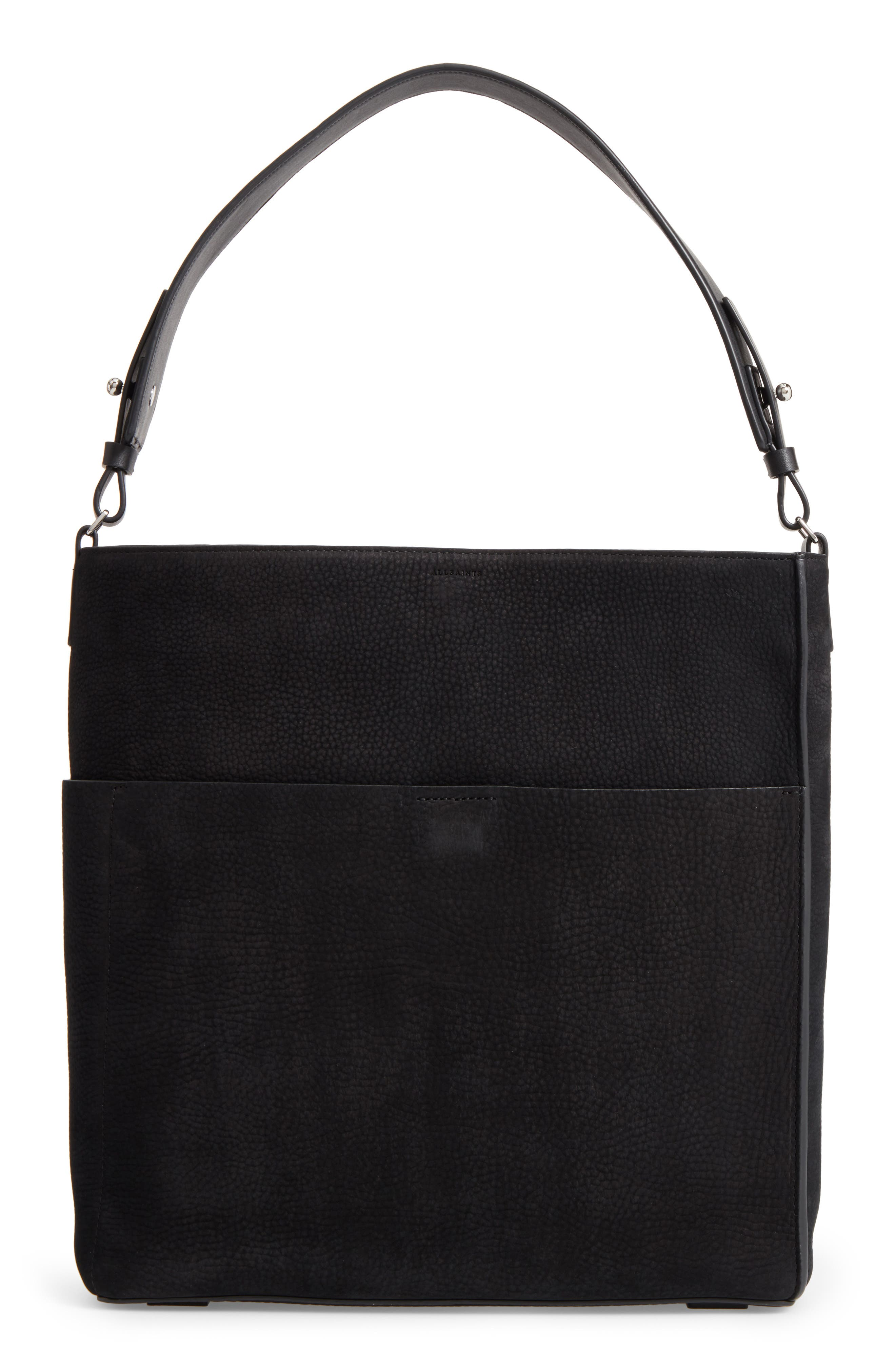 Alternate Image 1 Selected - ALLSAINTS Echo North/South Calfskin Tote