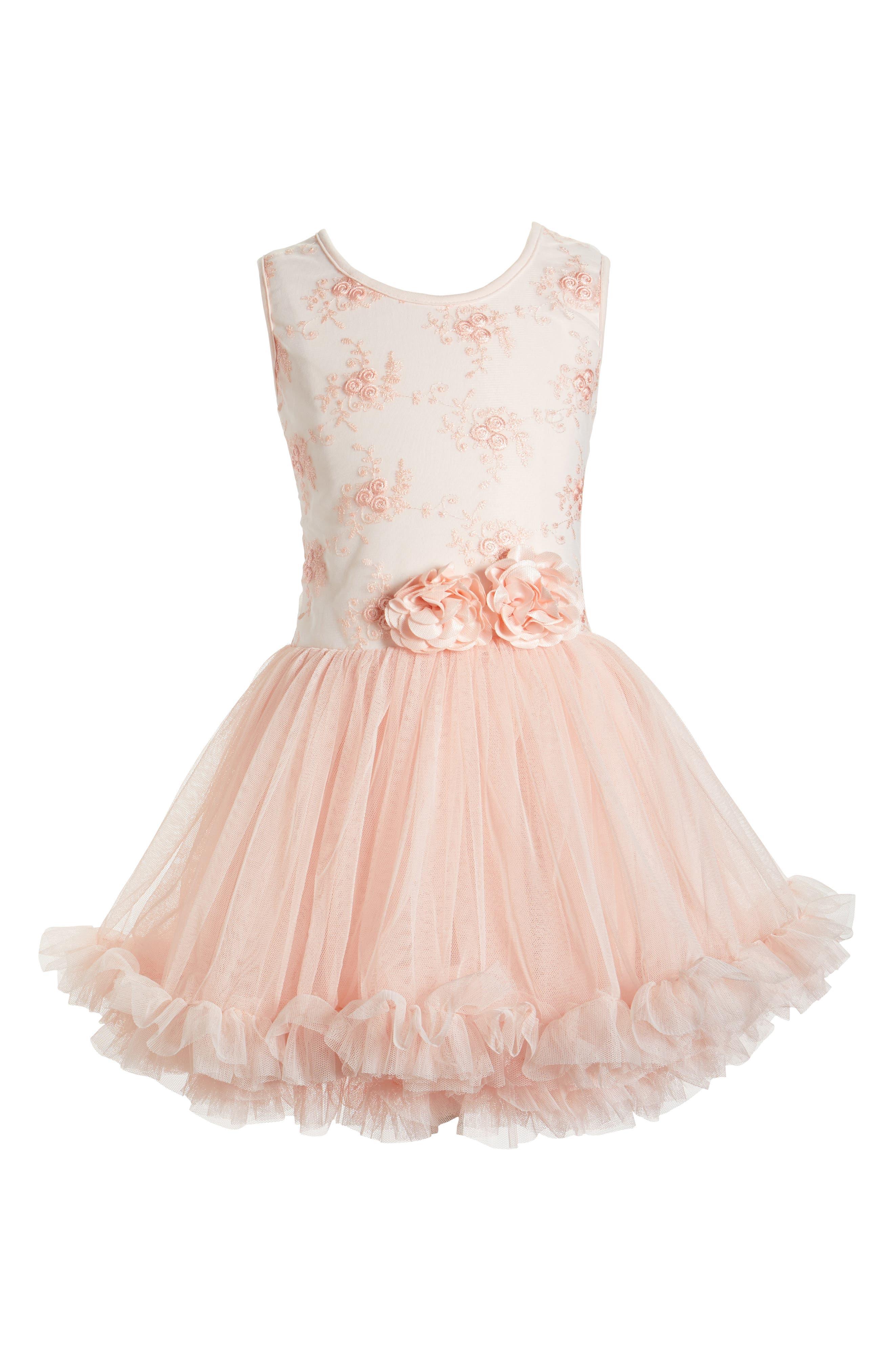 Popatu Sleeveless Floral Dress (Toddler Girls & Little Girls)