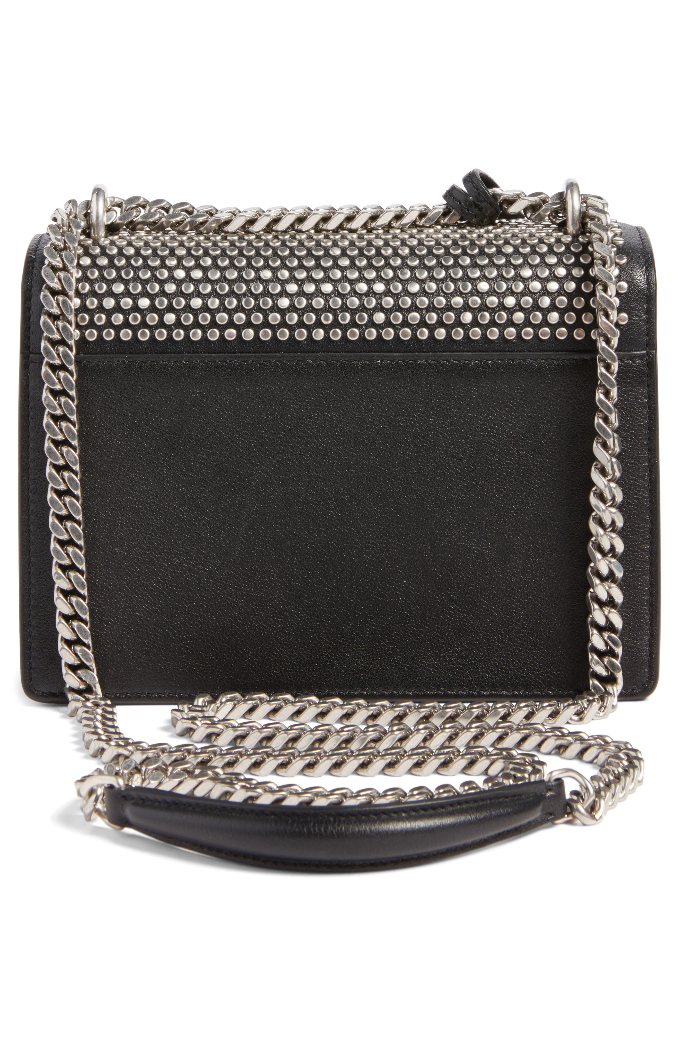 Alternate Image 2  - Saint Laurent Small Sunset Studded Leather Shoulder Bag