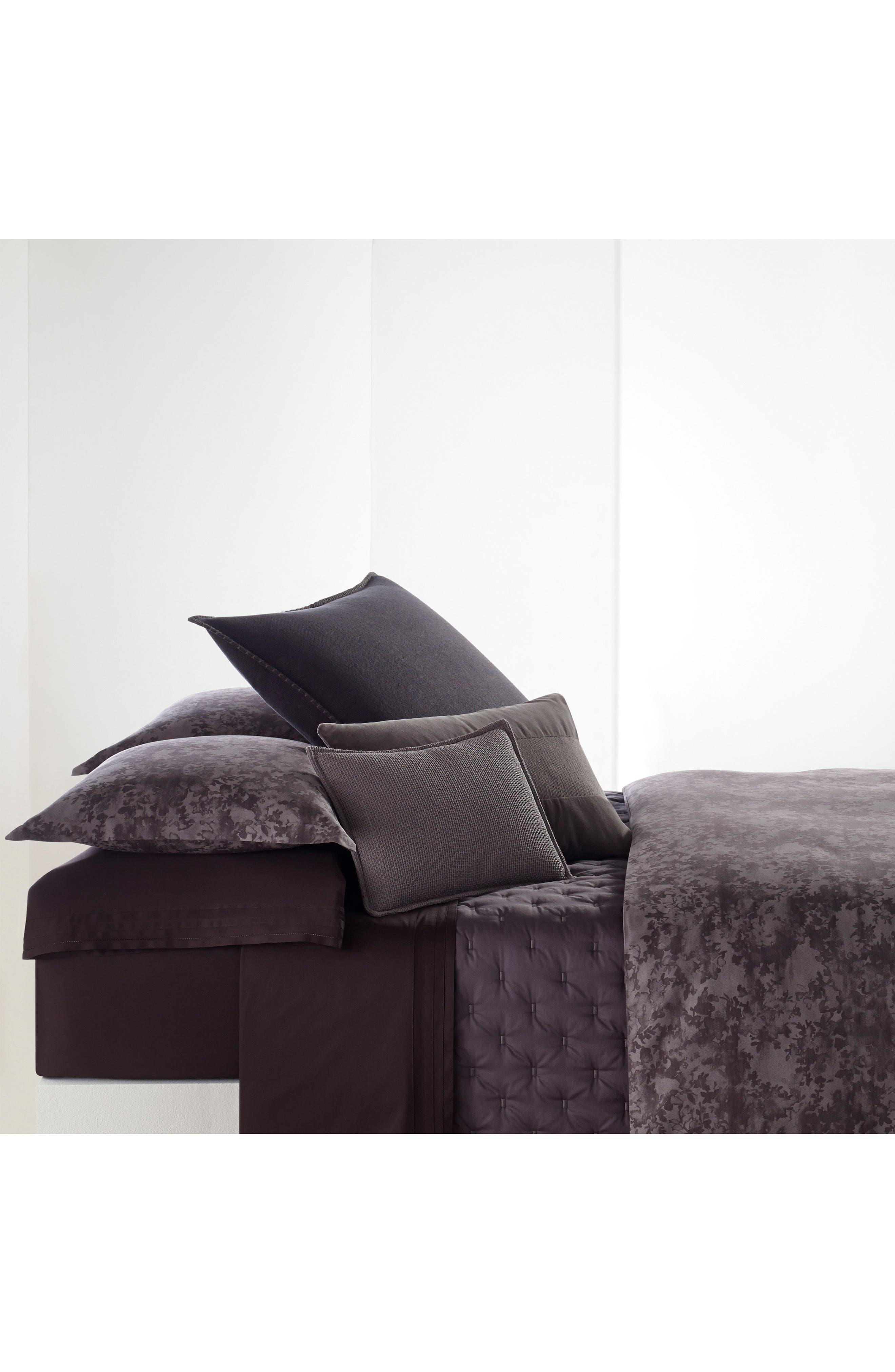Floral Jacquard 300 Thread Count Duvet Cover,                         Main,                         color, Open Purple