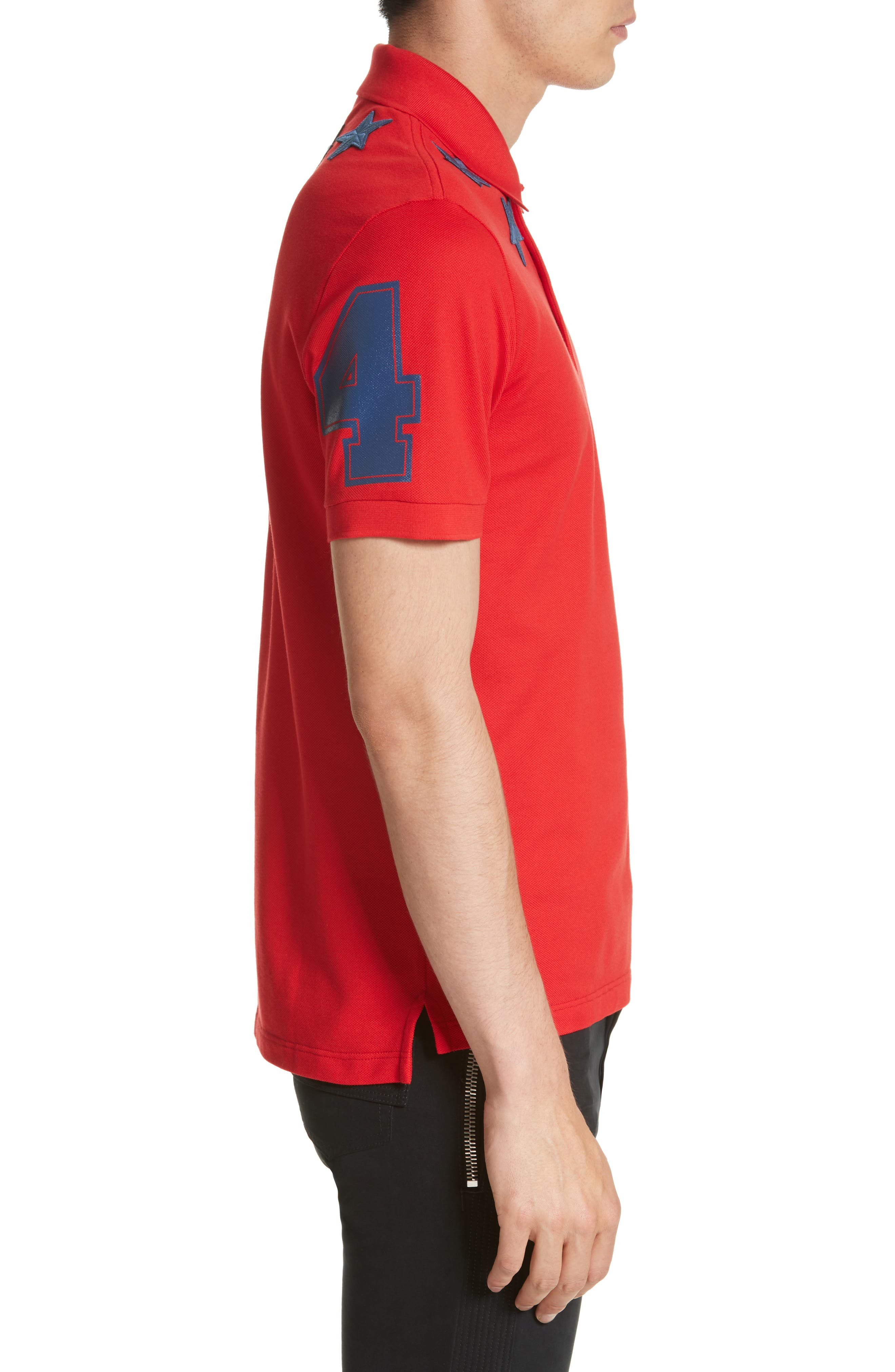 Star 74 Polo,                             Alternate thumbnail 3, color,                             Red