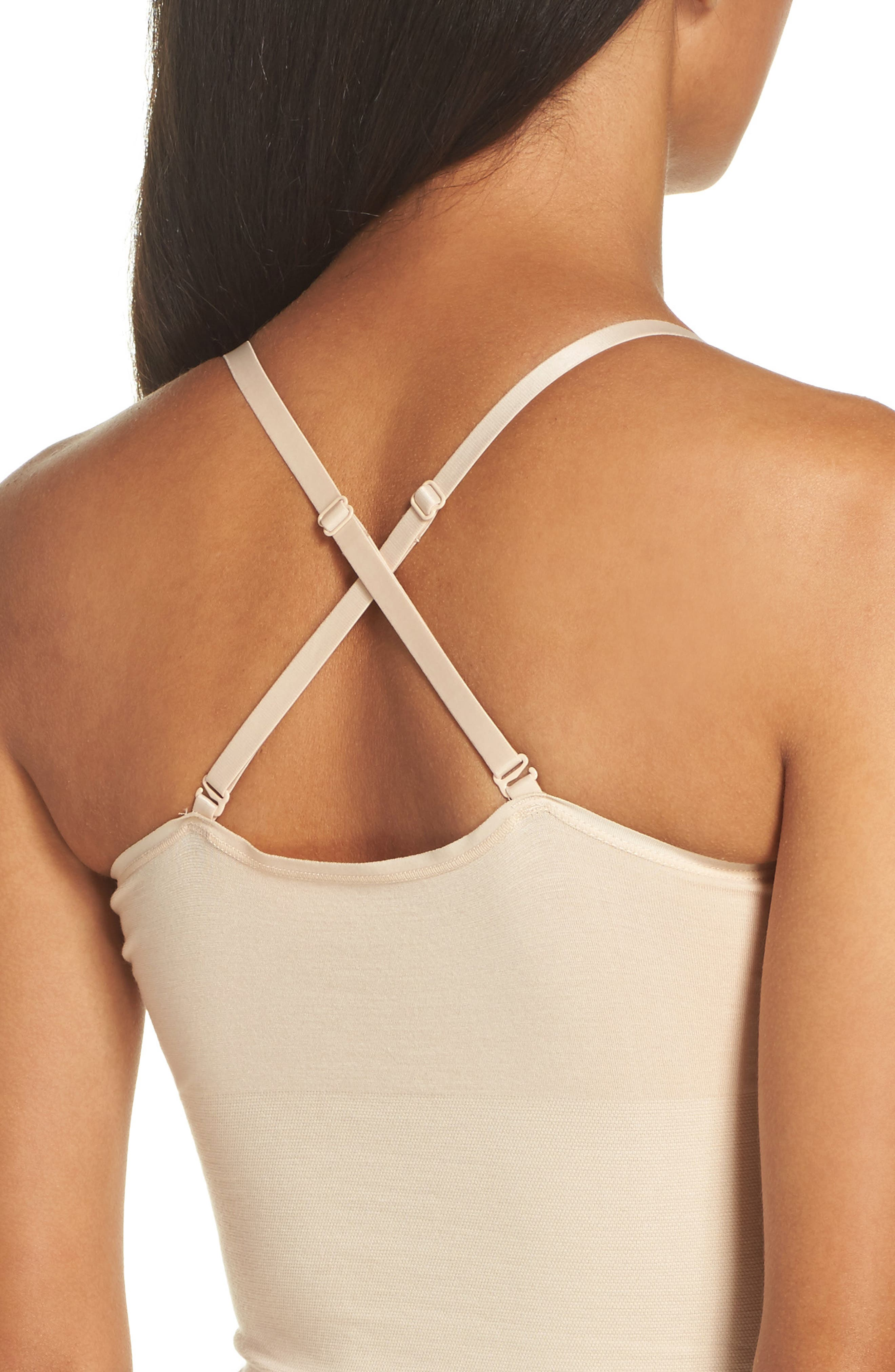 Seamlessly Shaped Convertible Camisole,                             Alternate thumbnail 4, color,                             Frappe