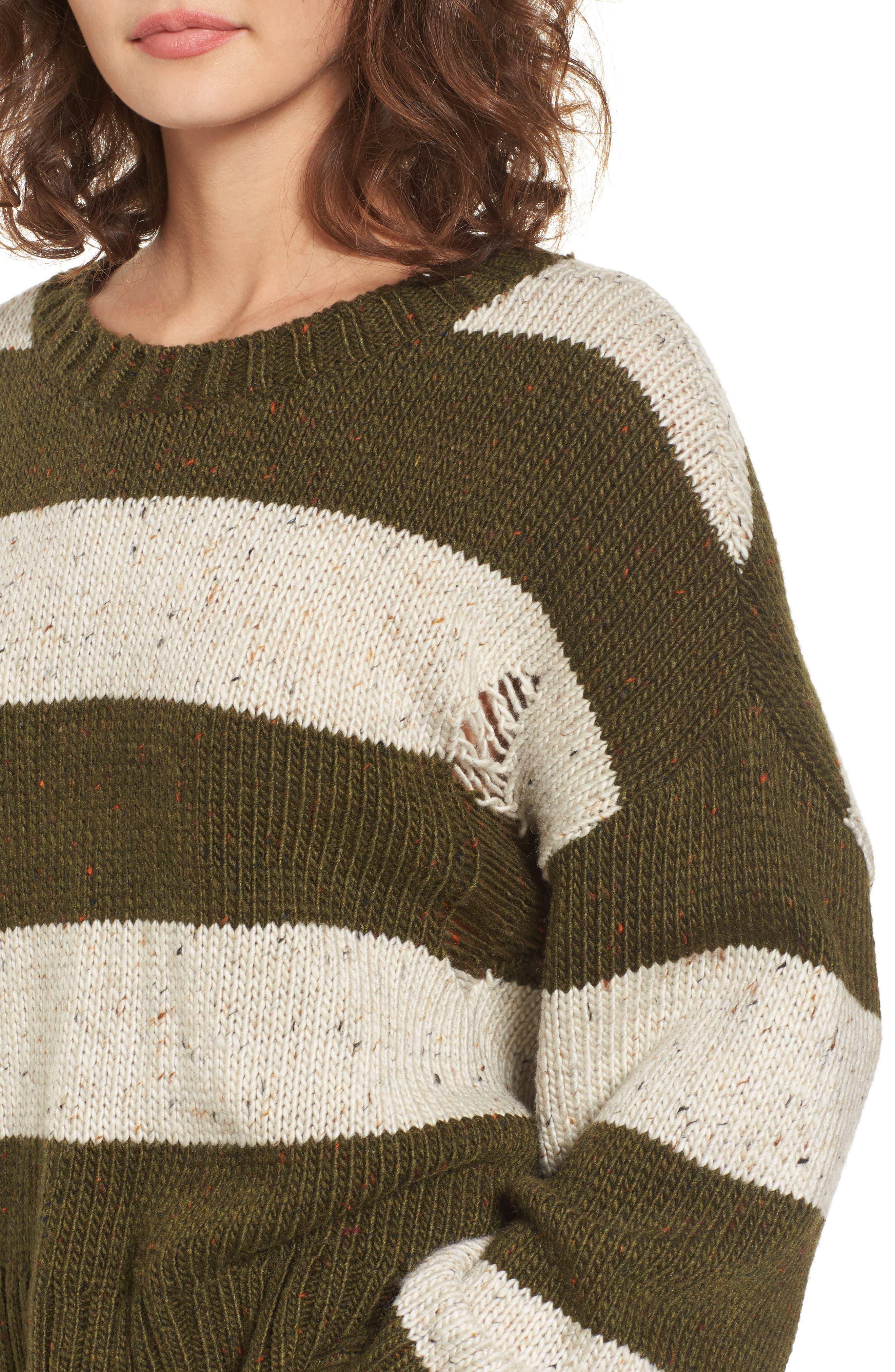 Alternate Image 4  - BP. Distressed Stripe Pullover
