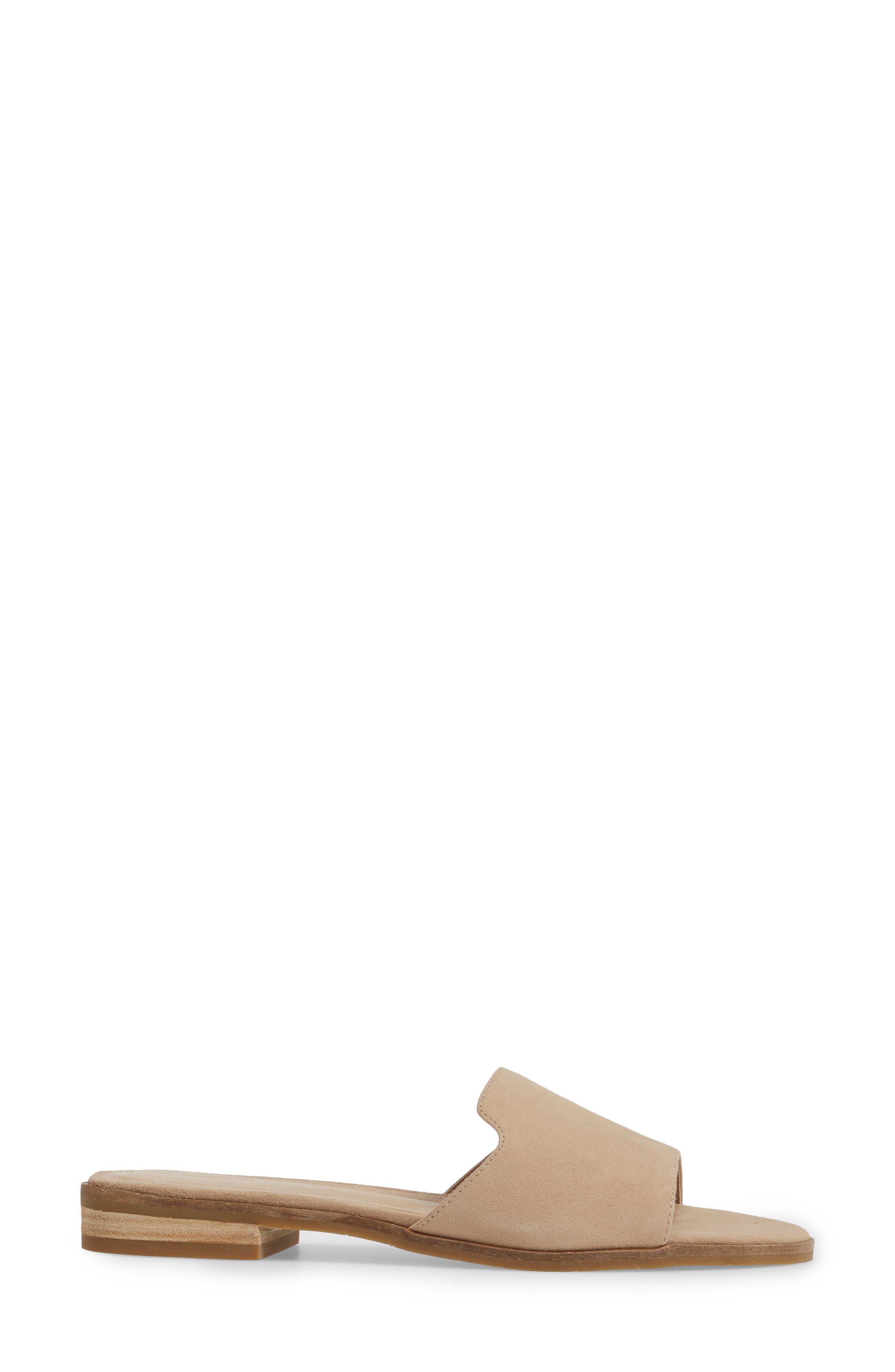 Hailey Slide Sandal,                             Alternate thumbnail 3, color,                             Sand Leather