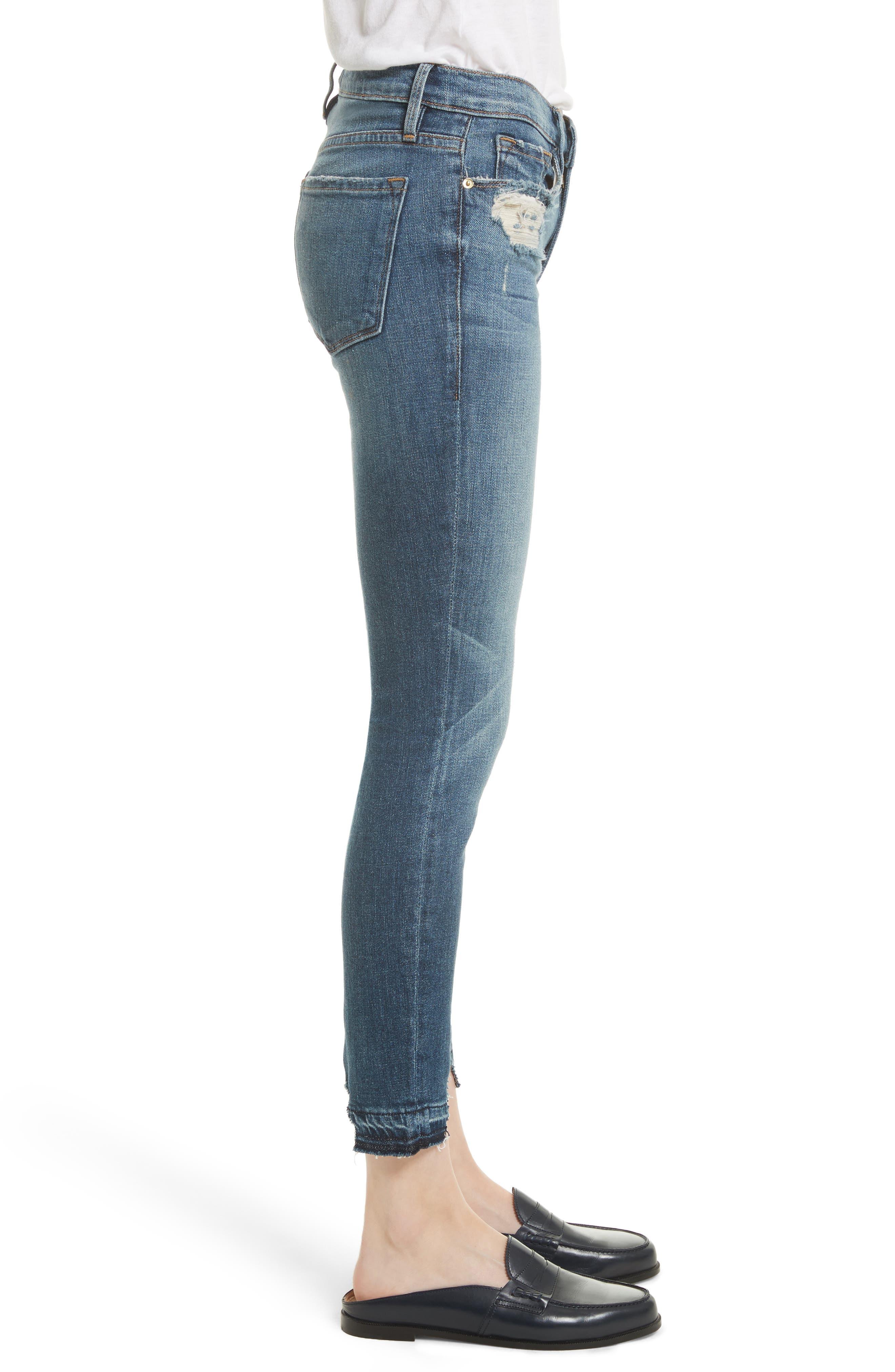 Alternate Image 4  - FRAME Le Skinny de Jeanne Crop Release Hem Jeans (Roberts) (Nordstrom Exclusive)