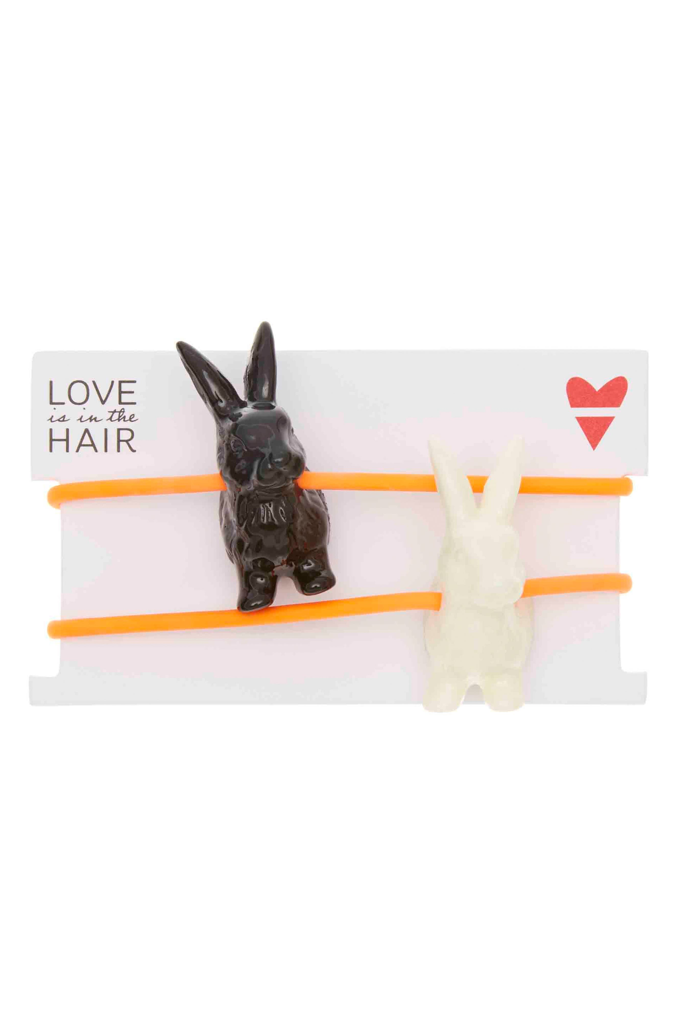 LOVE IS IN THE HAIR Bunny 2-Pack Hair Ties