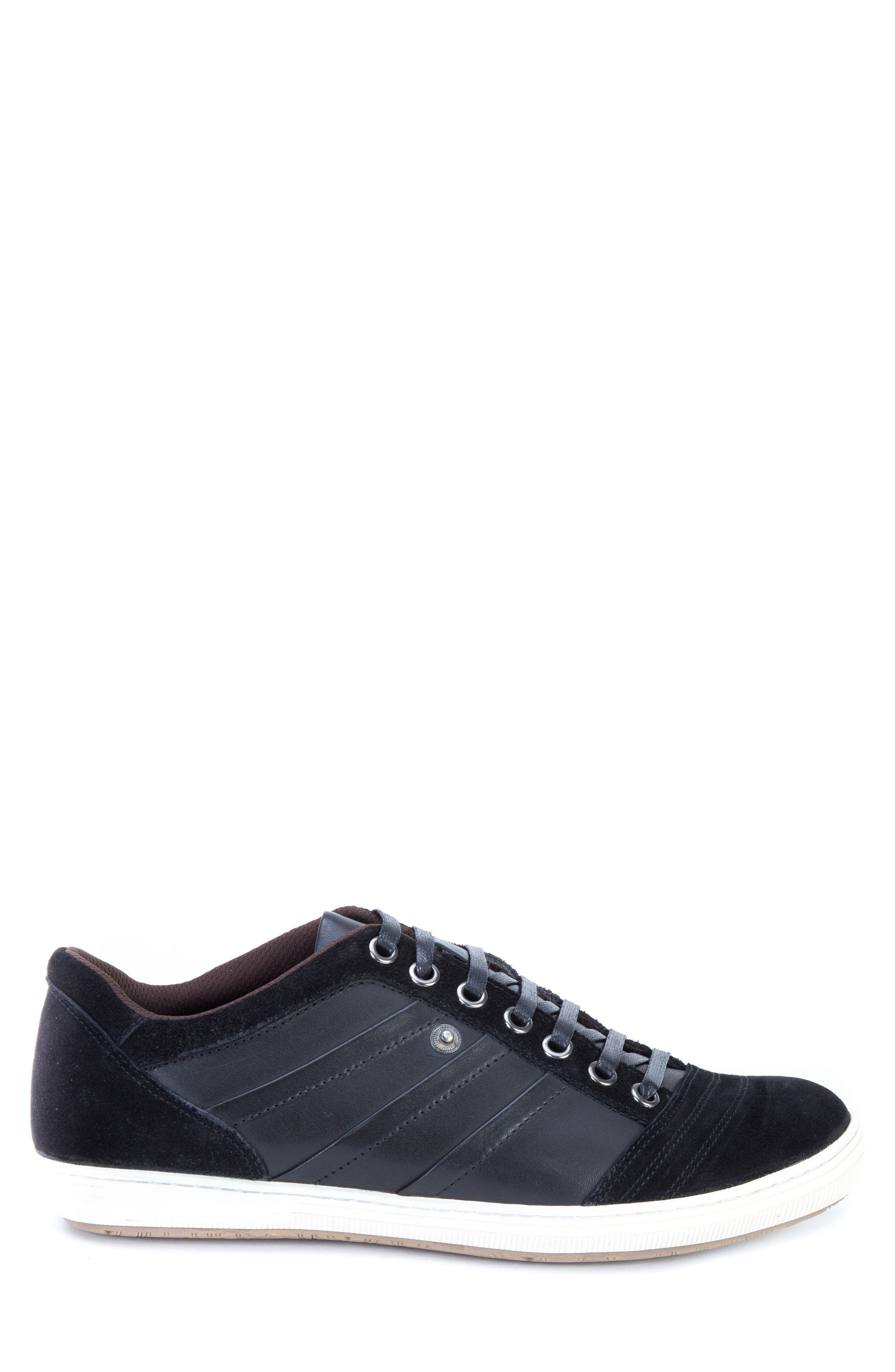 Jive Sneaker,                             Alternate thumbnail 3, color,                             Black Leather/Suede