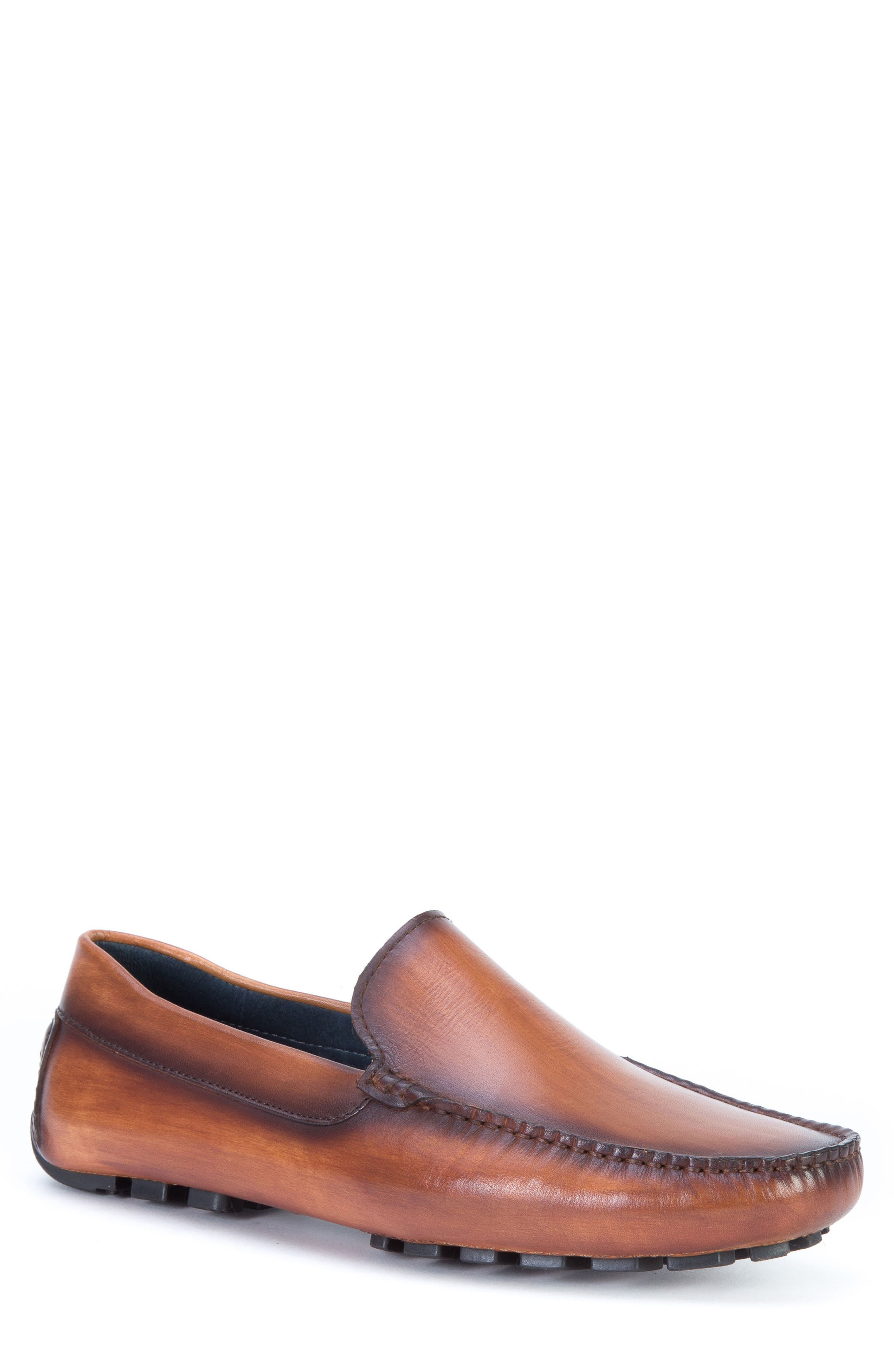 Matisse Driving Moccasin,                             Main thumbnail 1, color,                             Cognac Leather