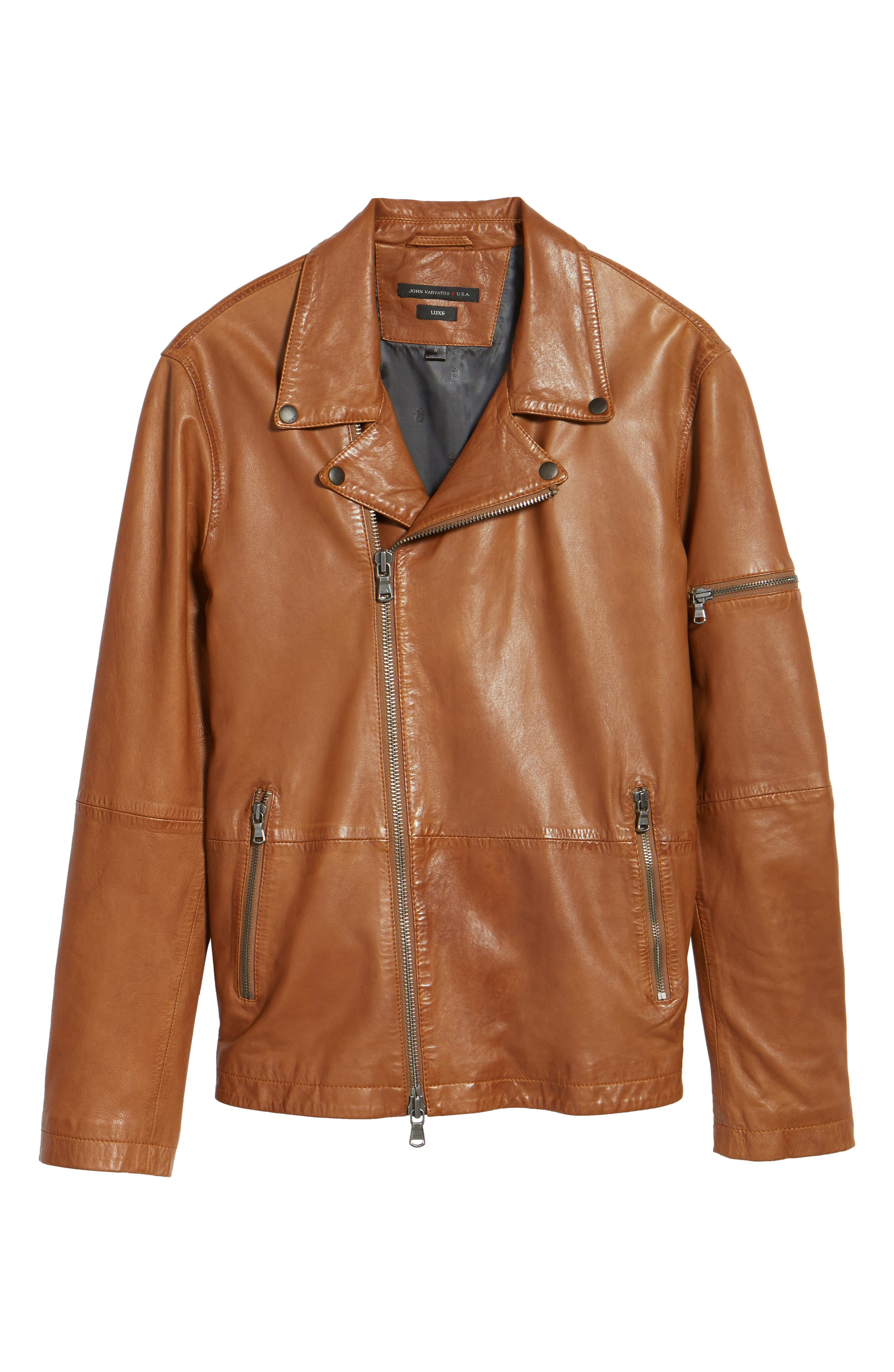 Alternate Image 5  - John Varvatos Star USA Leather Moto Jacket