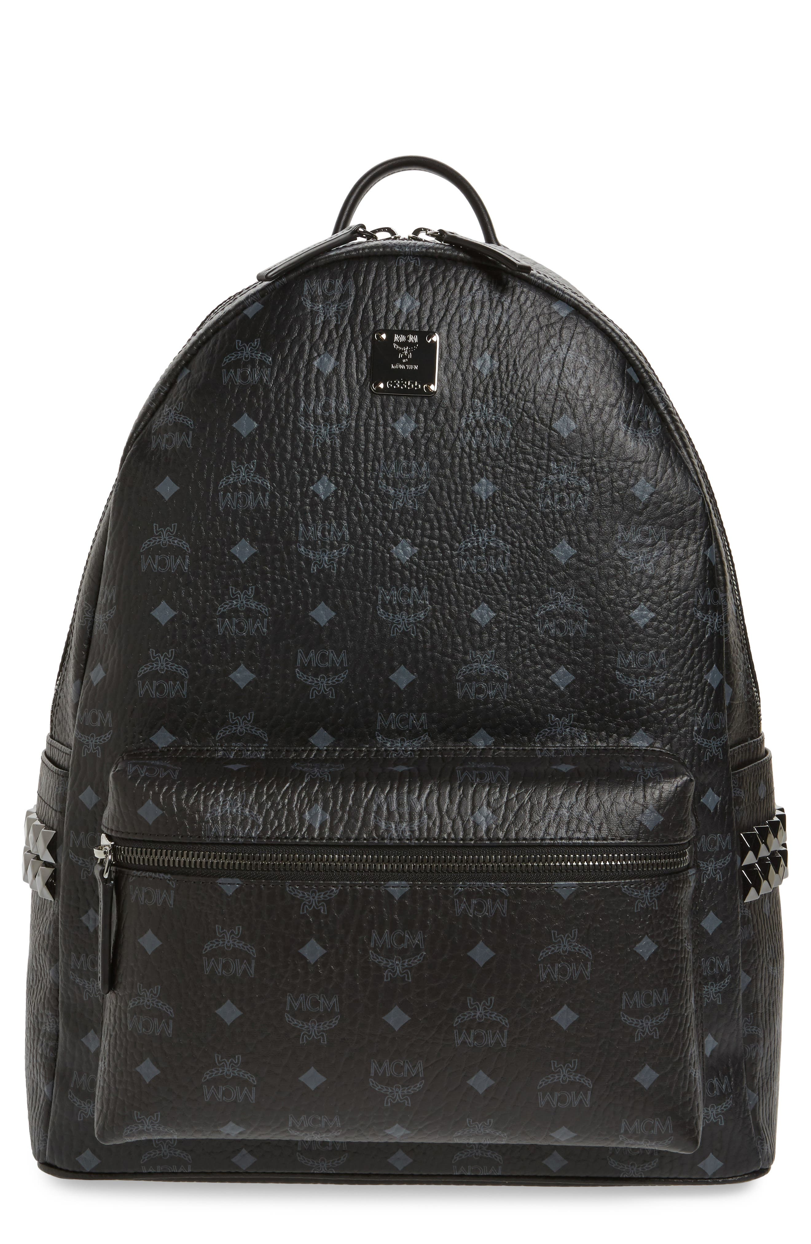MCM Large Stark Studded Side Backpack