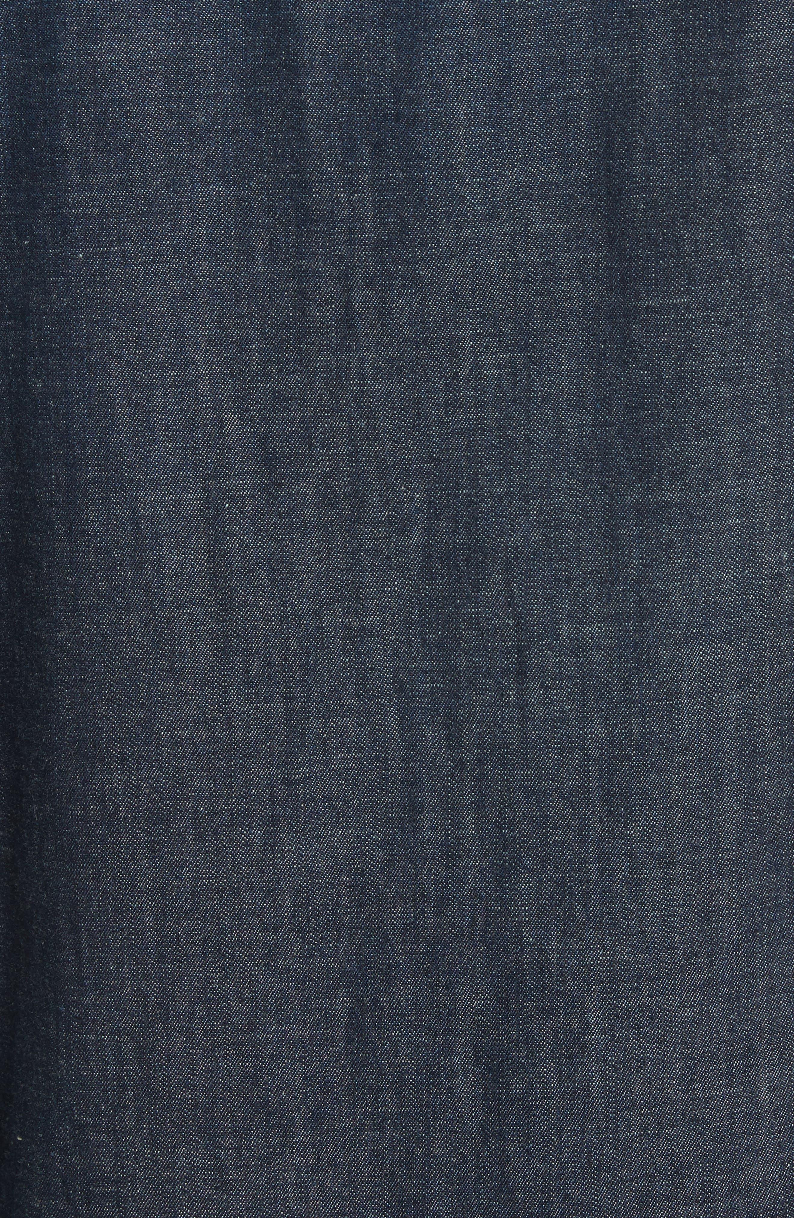 Somerford Denim Sport Shirt,                             Alternate thumbnail 5, color,                             Dark Blue