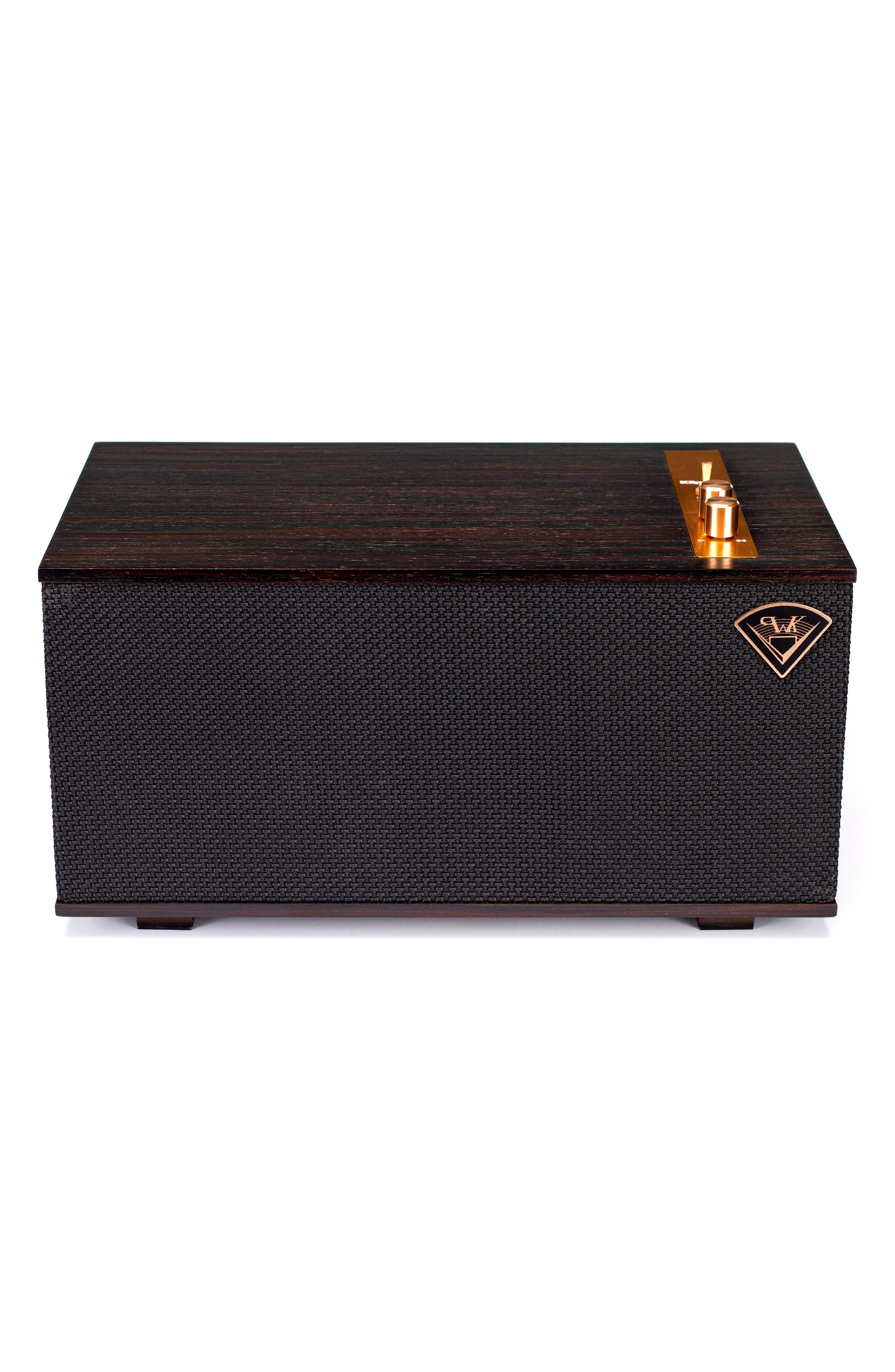 Klipsch The Three Bluetooth<sup>®</sup> Speaker,                             Main thumbnail 1, color,                             Ebony