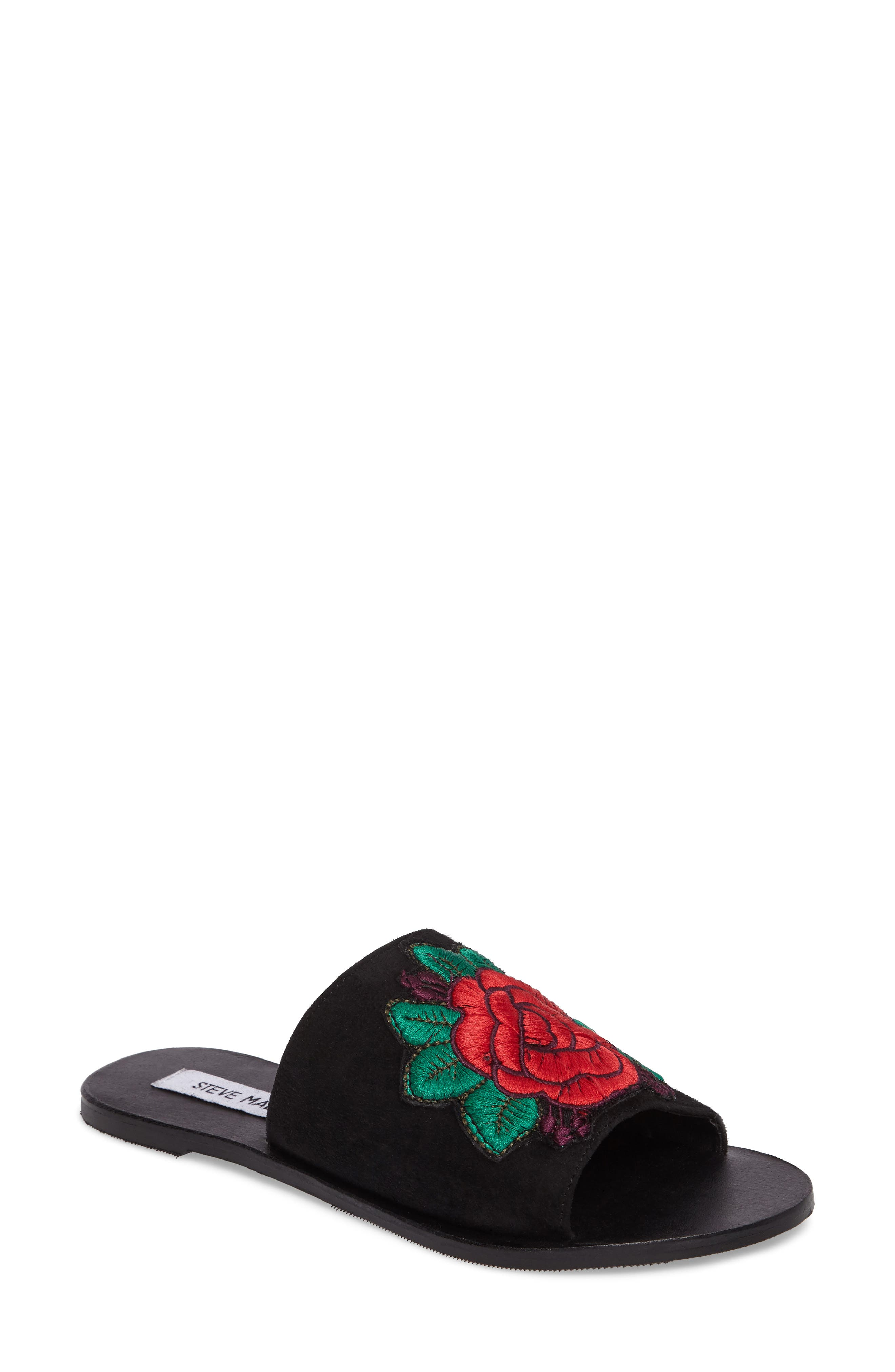 STEVE MADDEN Anne Embroidered Slide Sandal