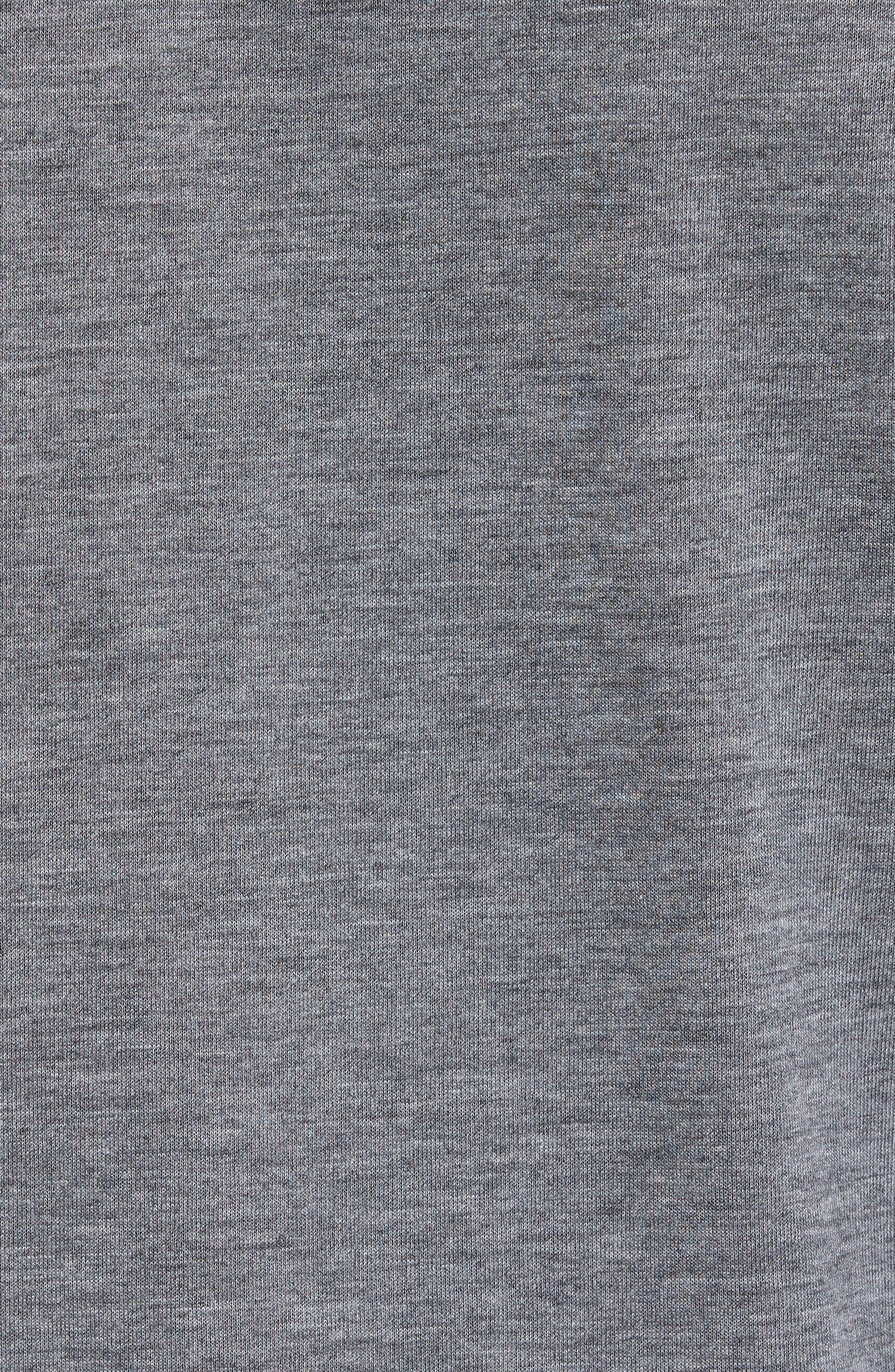 Mixed Media Henley,                             Alternate thumbnail 5, color,                             Grey Sleet Heather