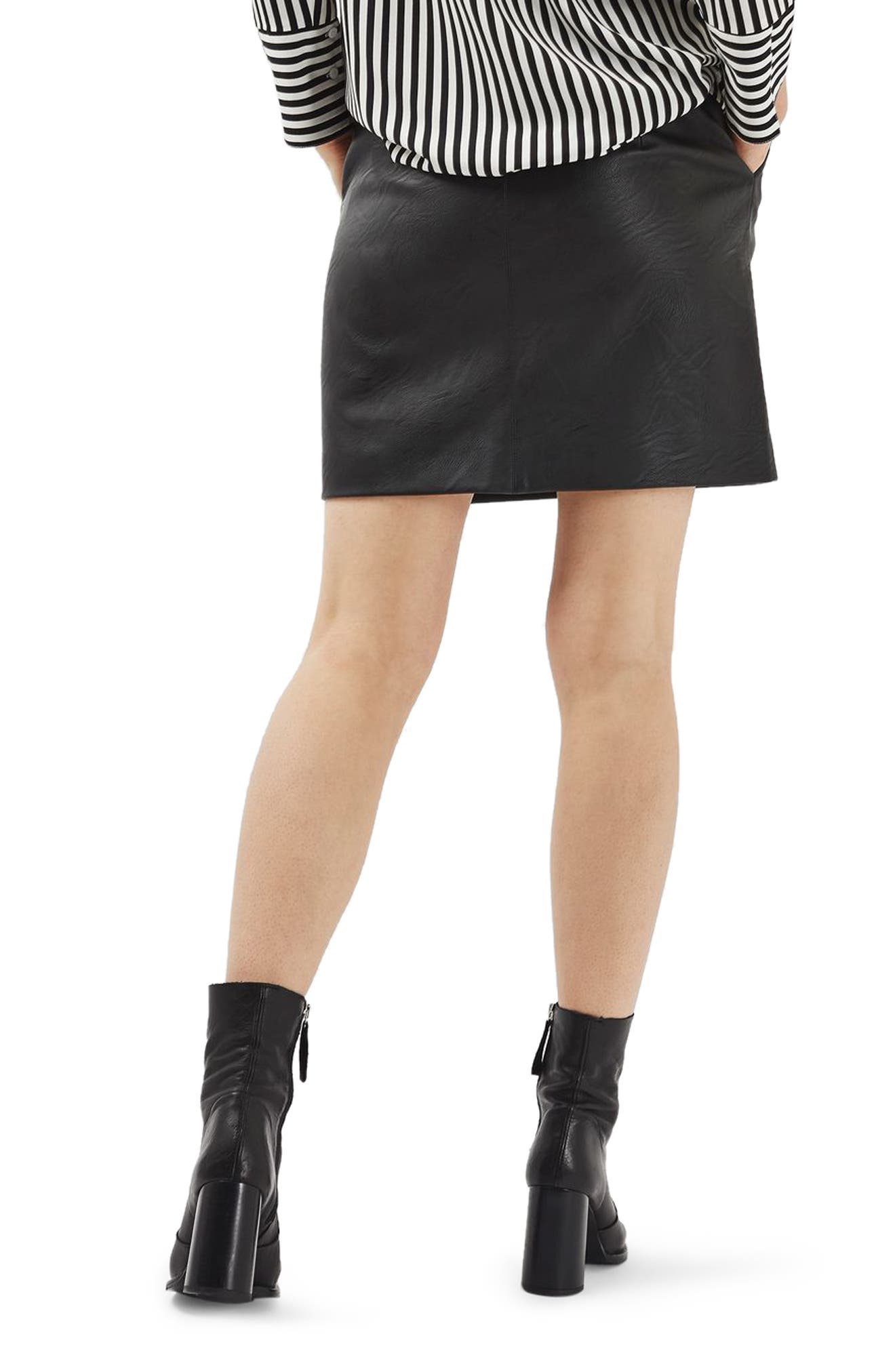 Alternate Image 4  - Topshop Faux Leather Pencil Skirt