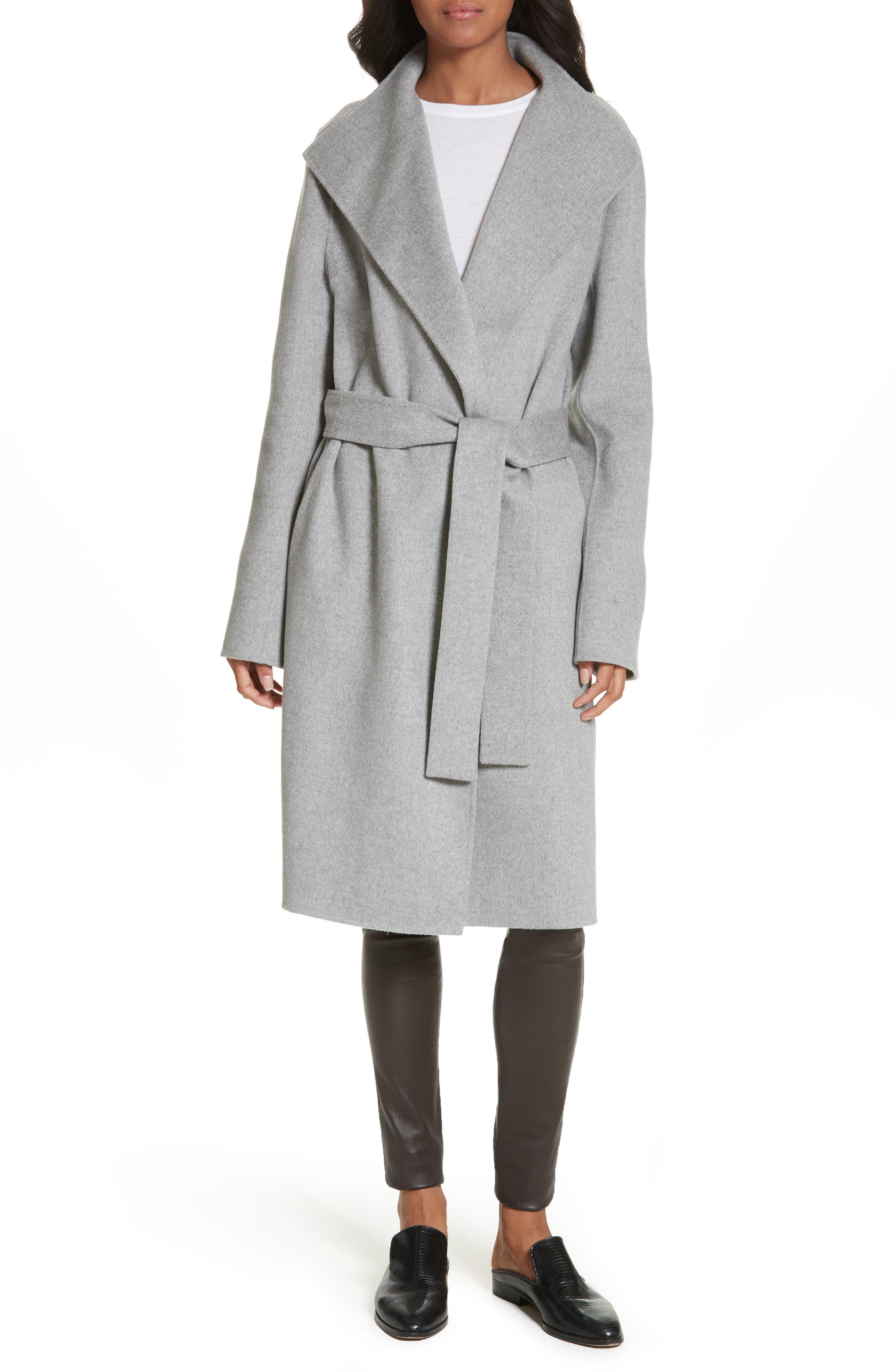 Main Image - JOSEPH Lima Double-Face Wool & Cashmere Wrap Coat