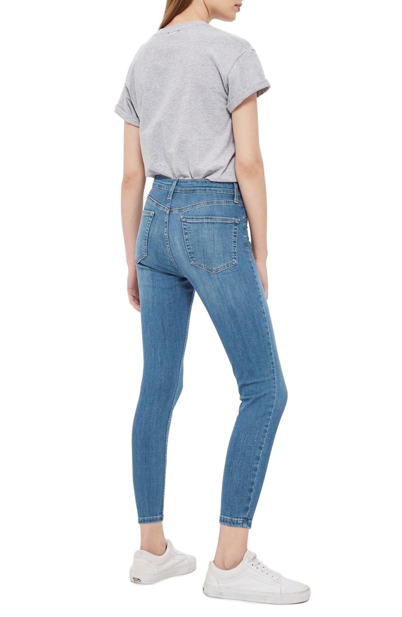 Alternate Image 2  - Topshop Jamie High Waist Crop Skinny Jeans (Petite)