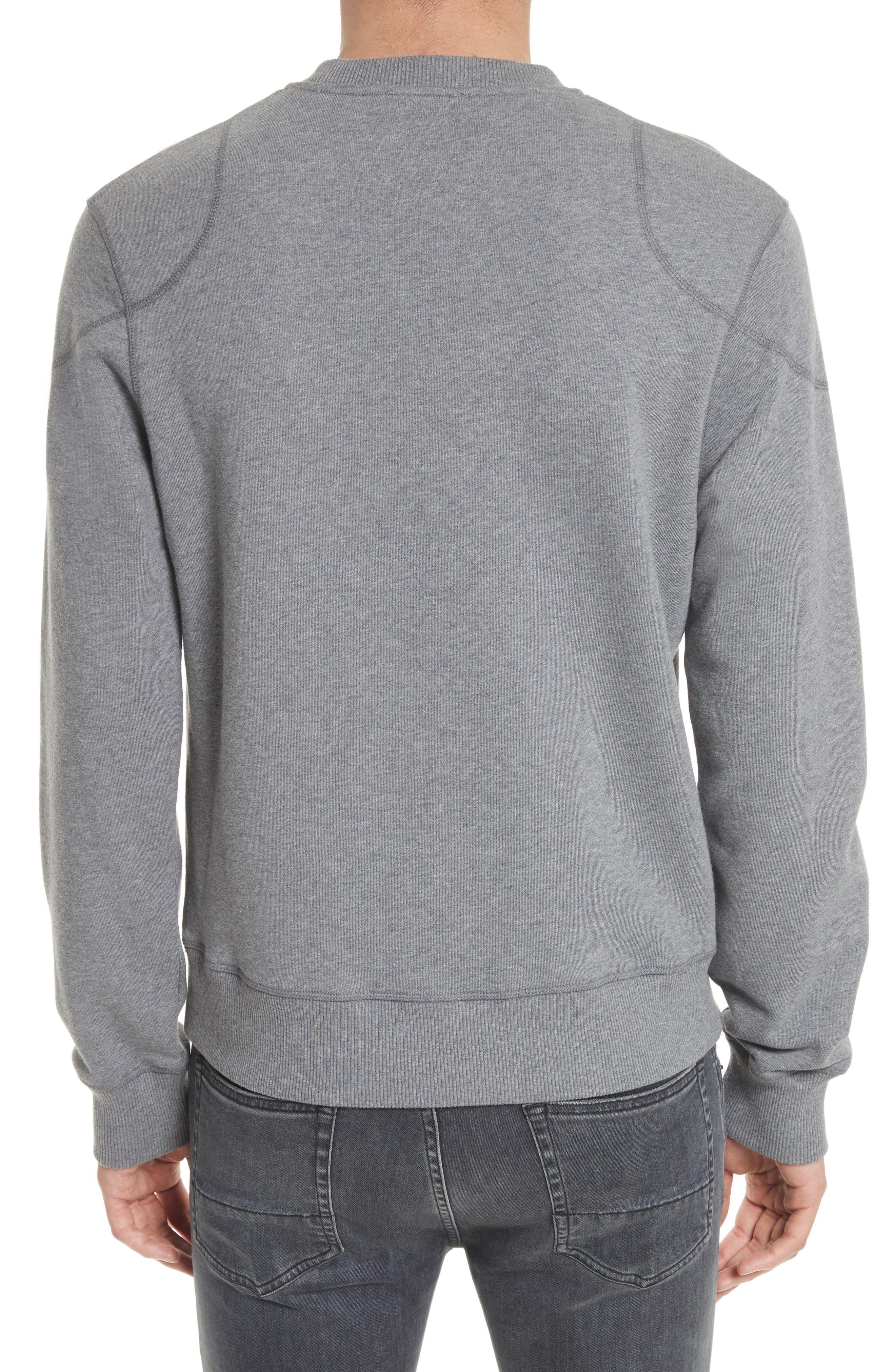 Jefferson Fleece Sweatshirt,                             Alternate thumbnail 2, color,                             Dark Grey Mel