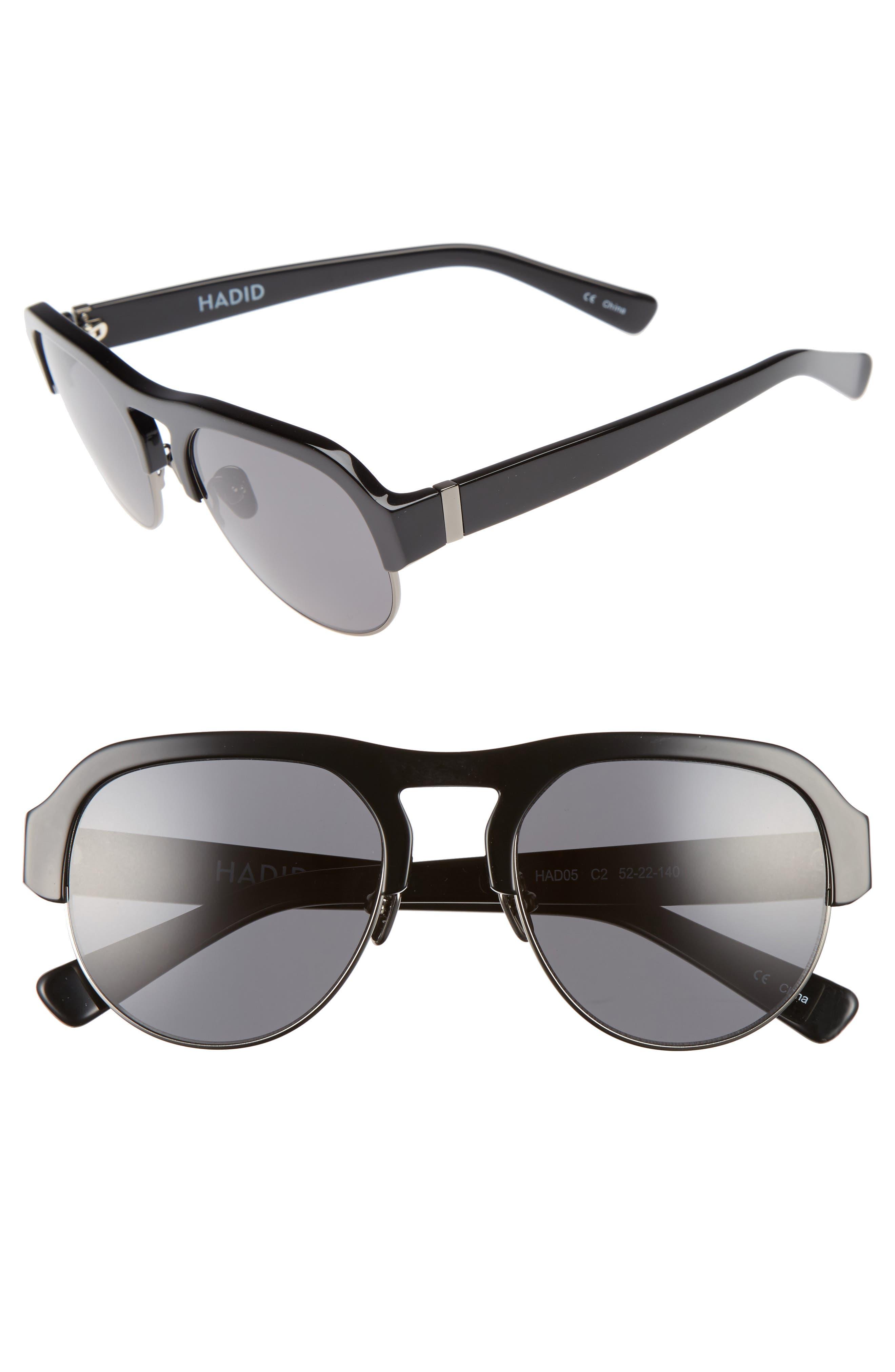 Nomad 52mm Sunglasses,                         Main,                         color, Black/ Gunmetal