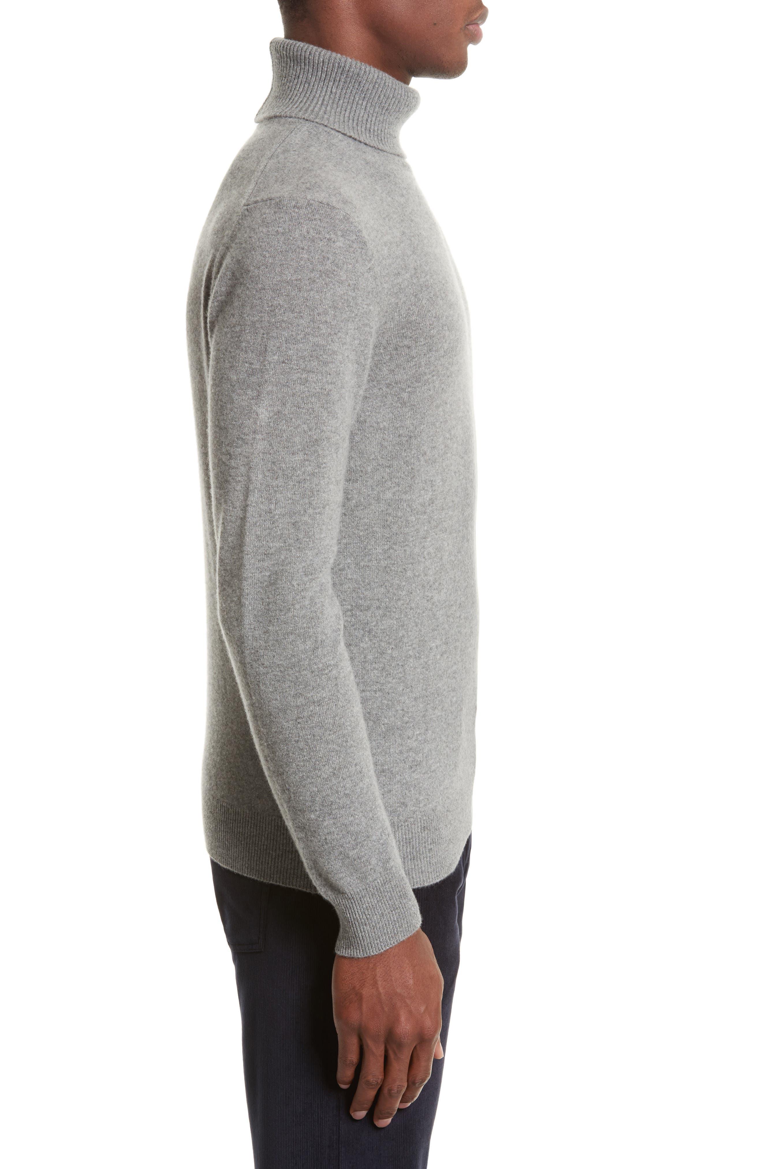 Turtleneck Sweater,                             Alternate thumbnail 3, color,                             Grey