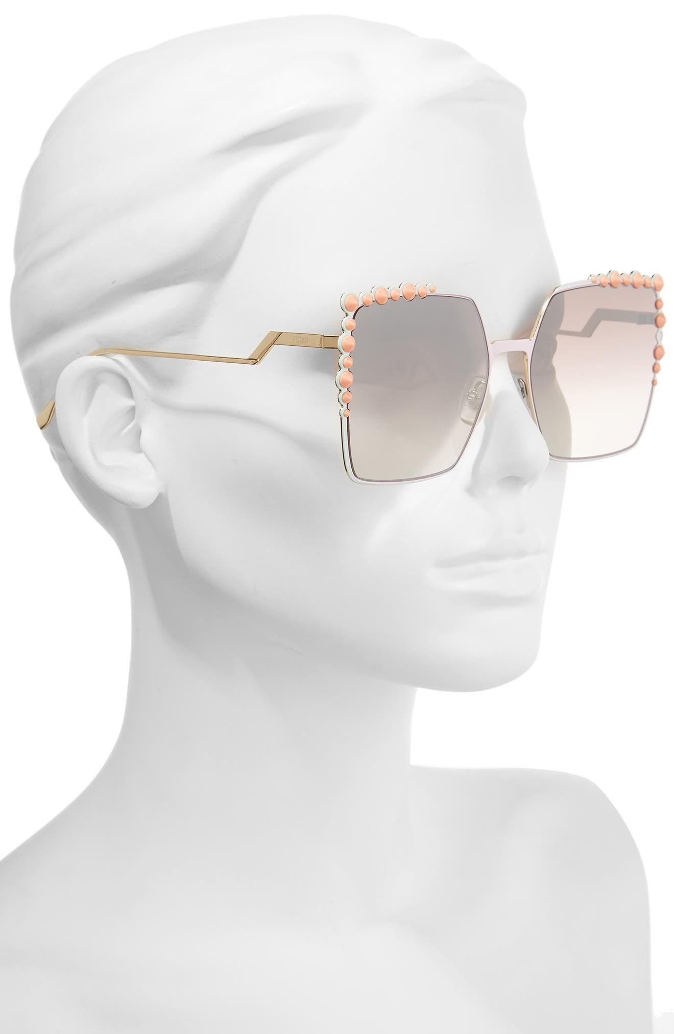 Alternate Image 2  - Fendi 60mm Gradient Square Cat Eye Sunglasses