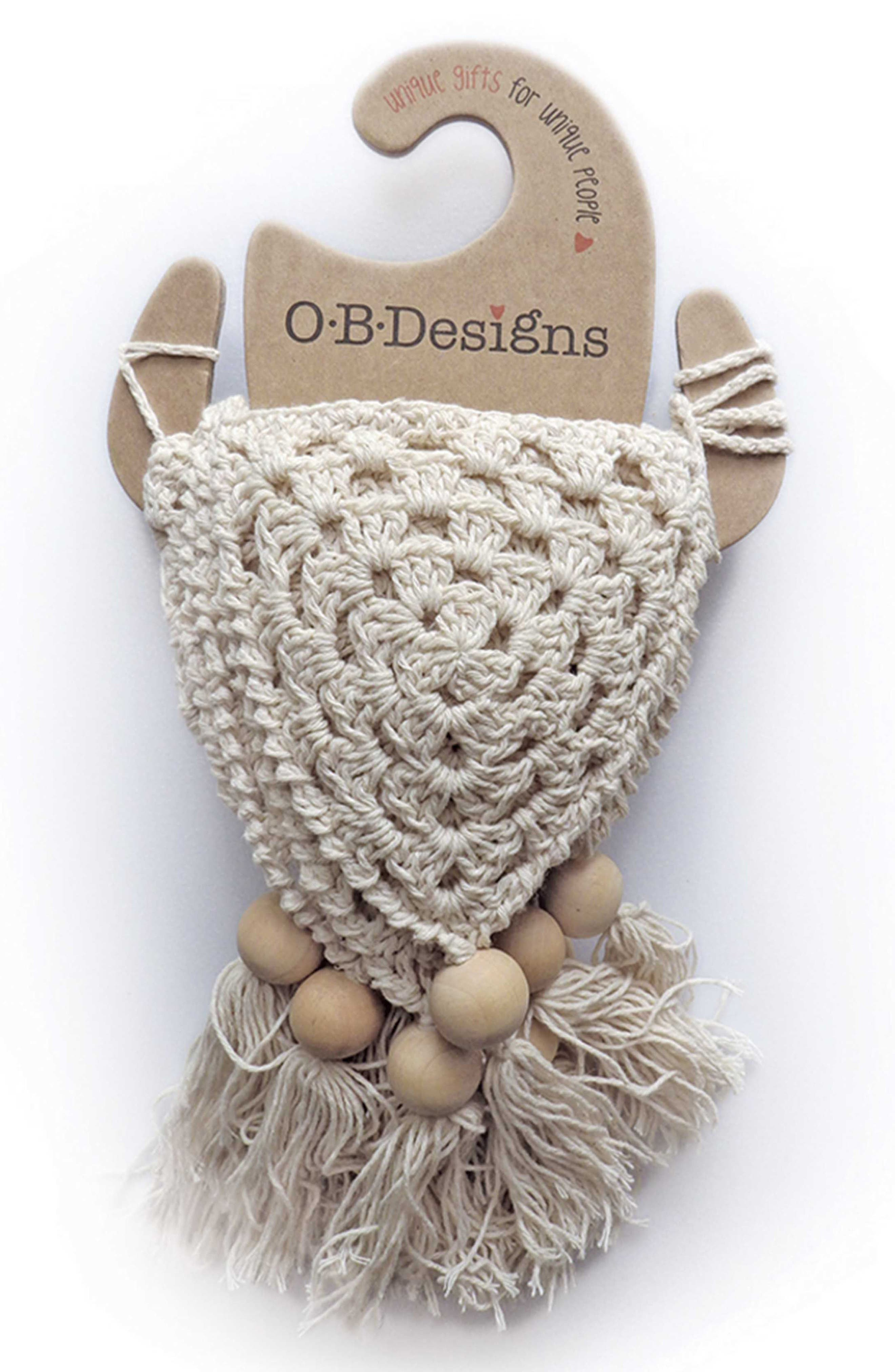 Crocheted Bunting,                         Main,                         color, Natural
