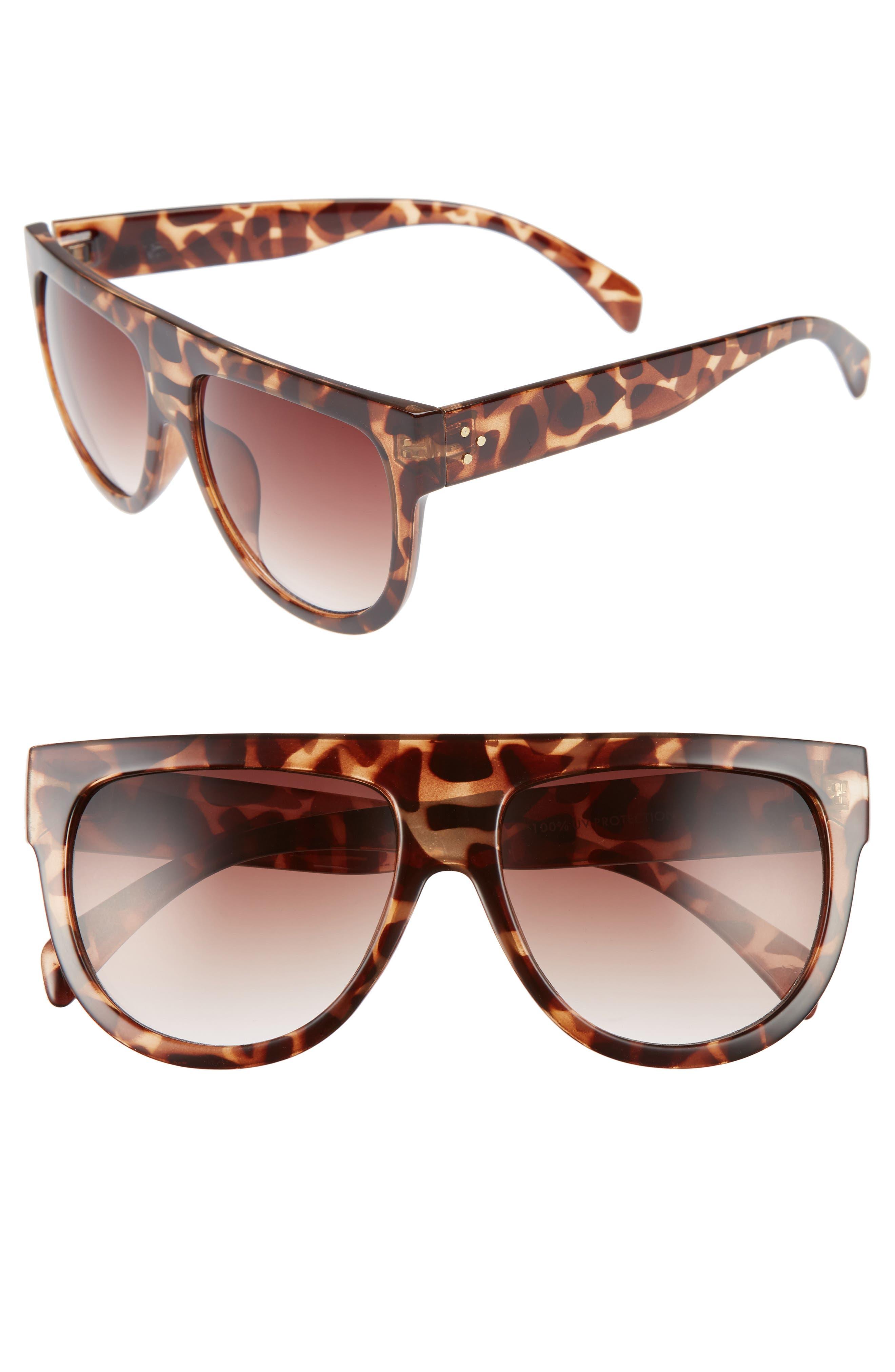 Lunette 40mm Shield Sunglasses,                         Main,                         color, Tort