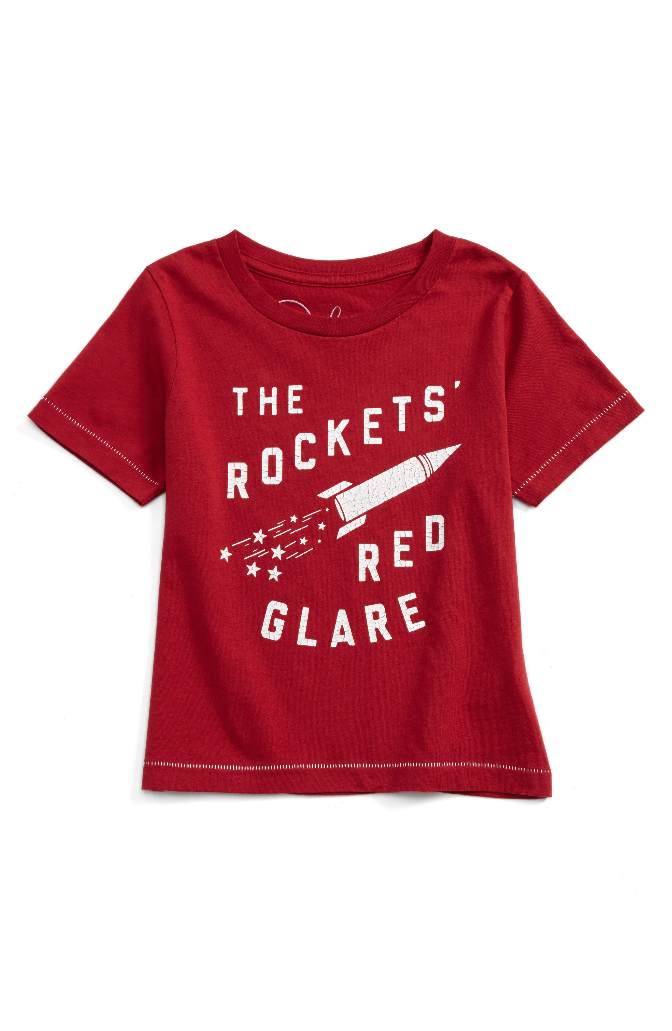 Alternate Image 1 Selected - Peek Rockets' Red Glare T-Shirt (Toddler Boys, Little Boys & Big Boys)