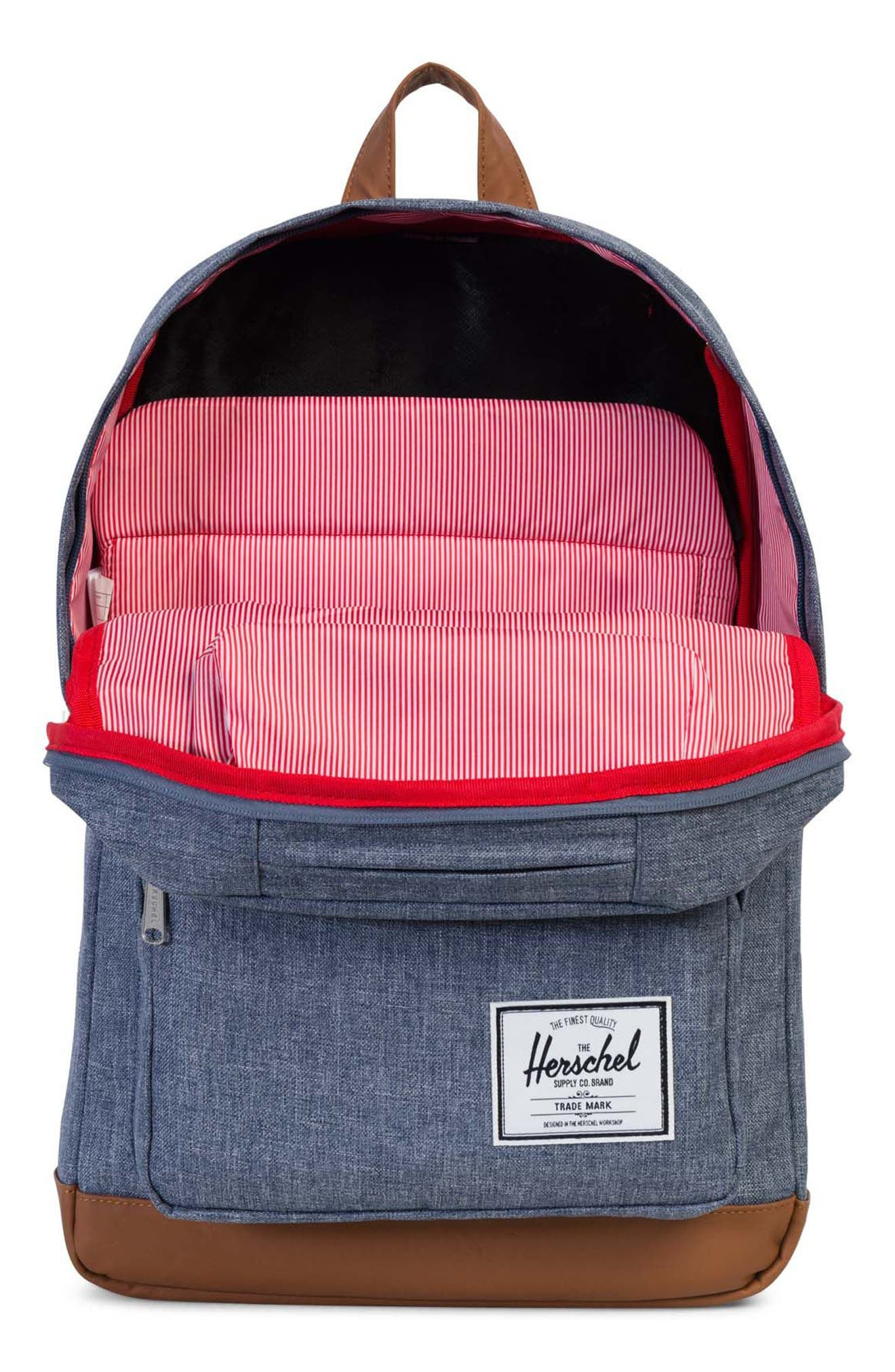 Pop Quiz Crosshatch Backpack,                             Alternate thumbnail 3, color,                             Dark Chambray Crosshatch