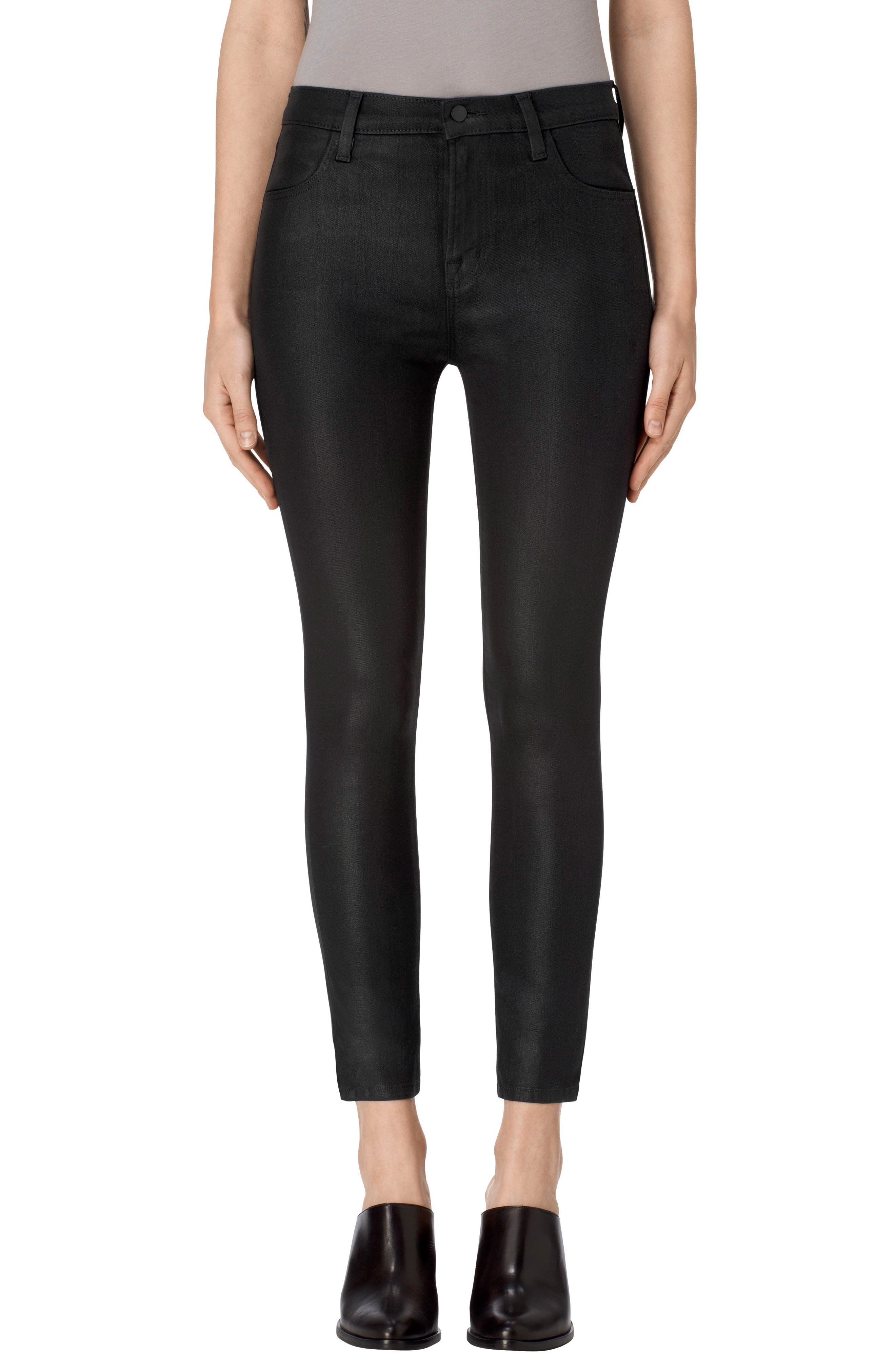 J Brand Alana High Waist Crop Skinny Jeans (Fearless)