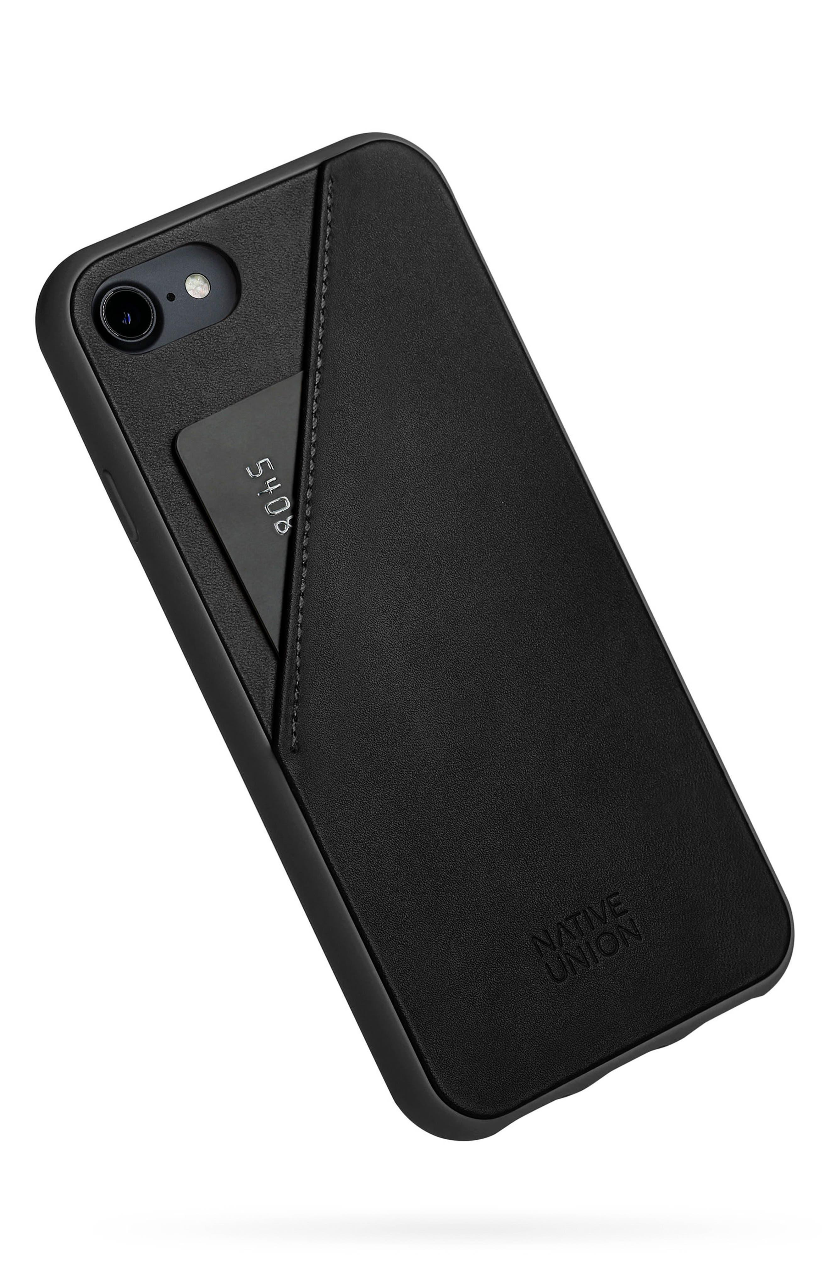 CLIC Card iPhone 7/8 & 7/8 Plus Case,                             Alternate thumbnail 2, color,                             Black/ Black