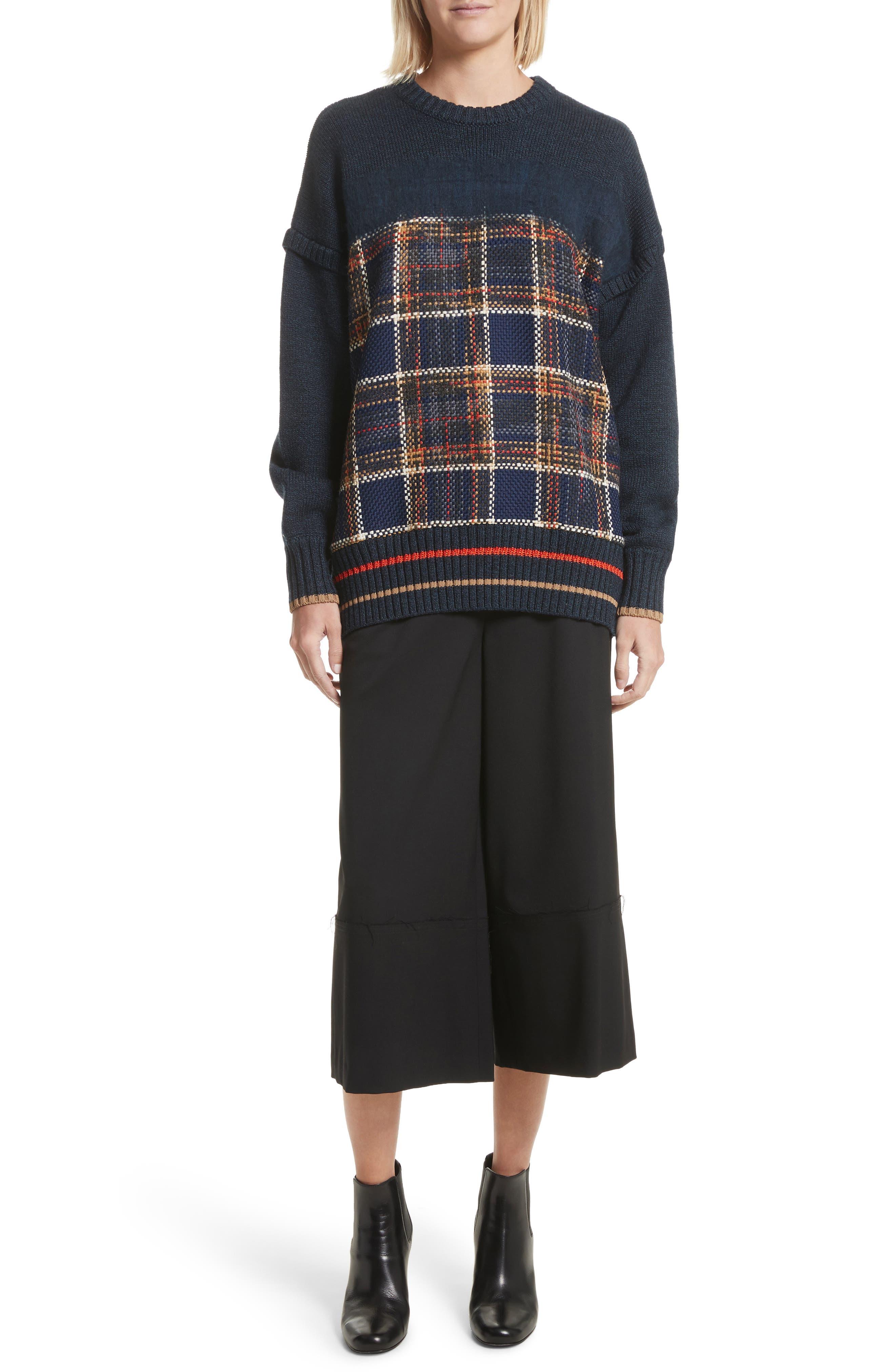 Oversize Sweatshirt,                         Main,                         color, Midnight Multi