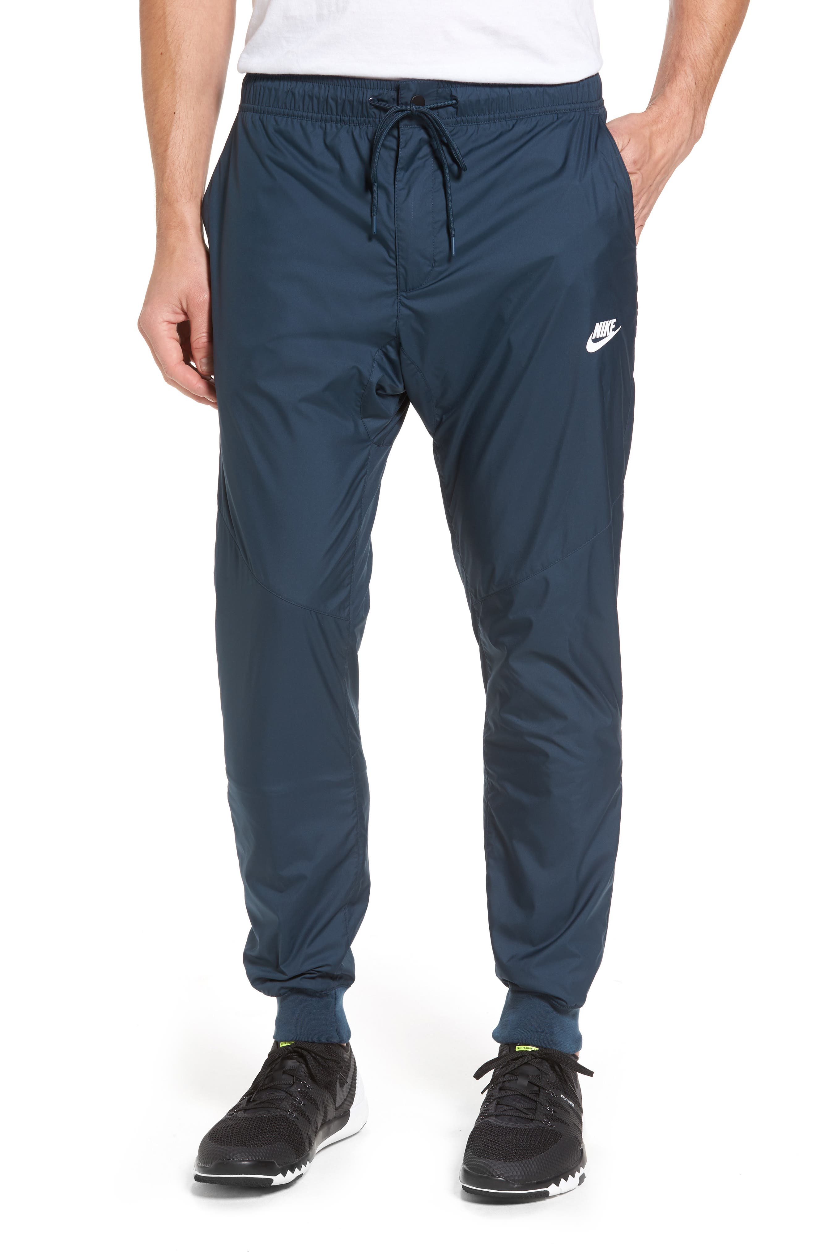 Windrunner Training Pants,                         Main,                         color, Armory Navy/ White