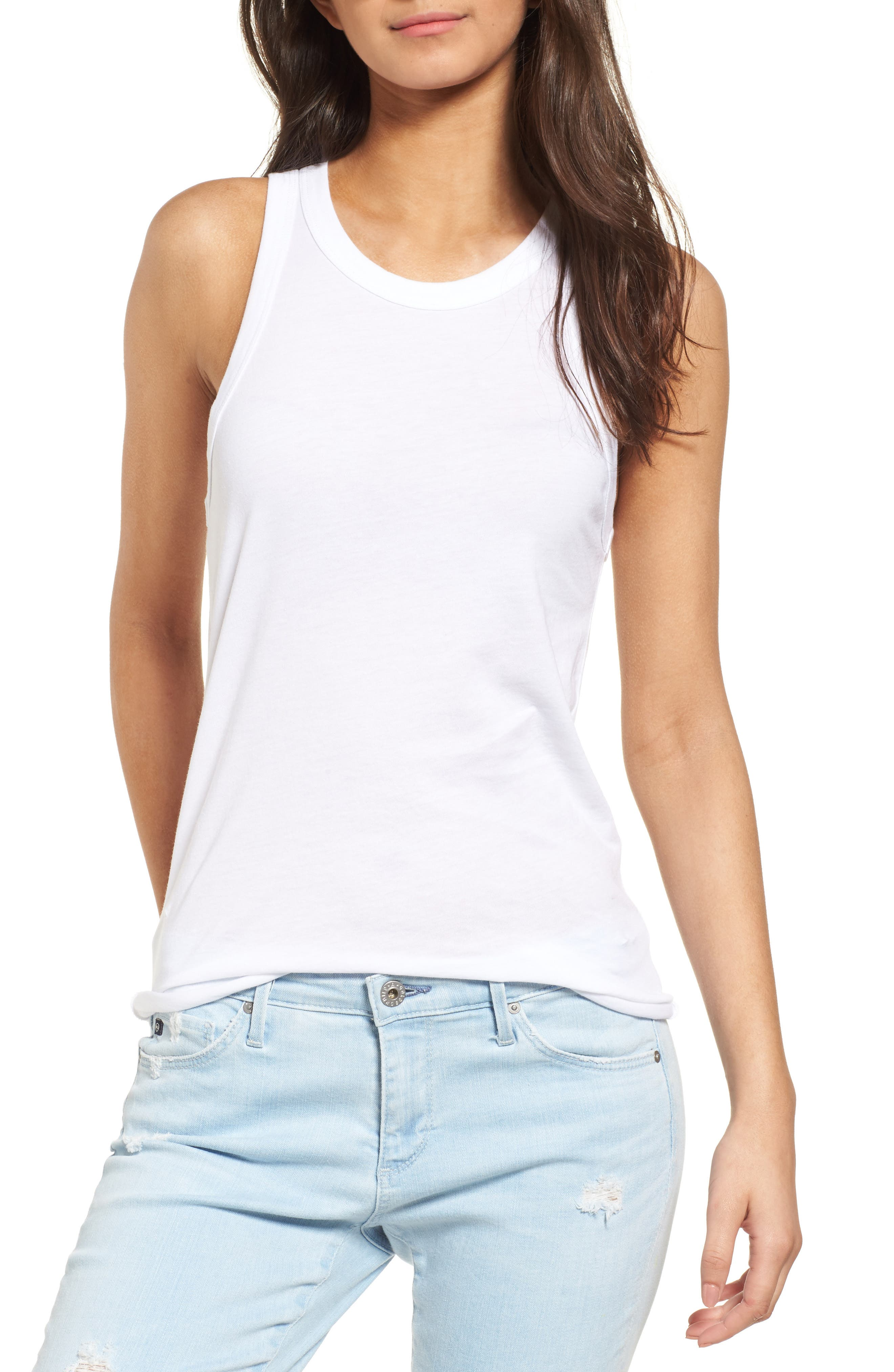 Lexi Tank,                             Main thumbnail 1, color,                             True White