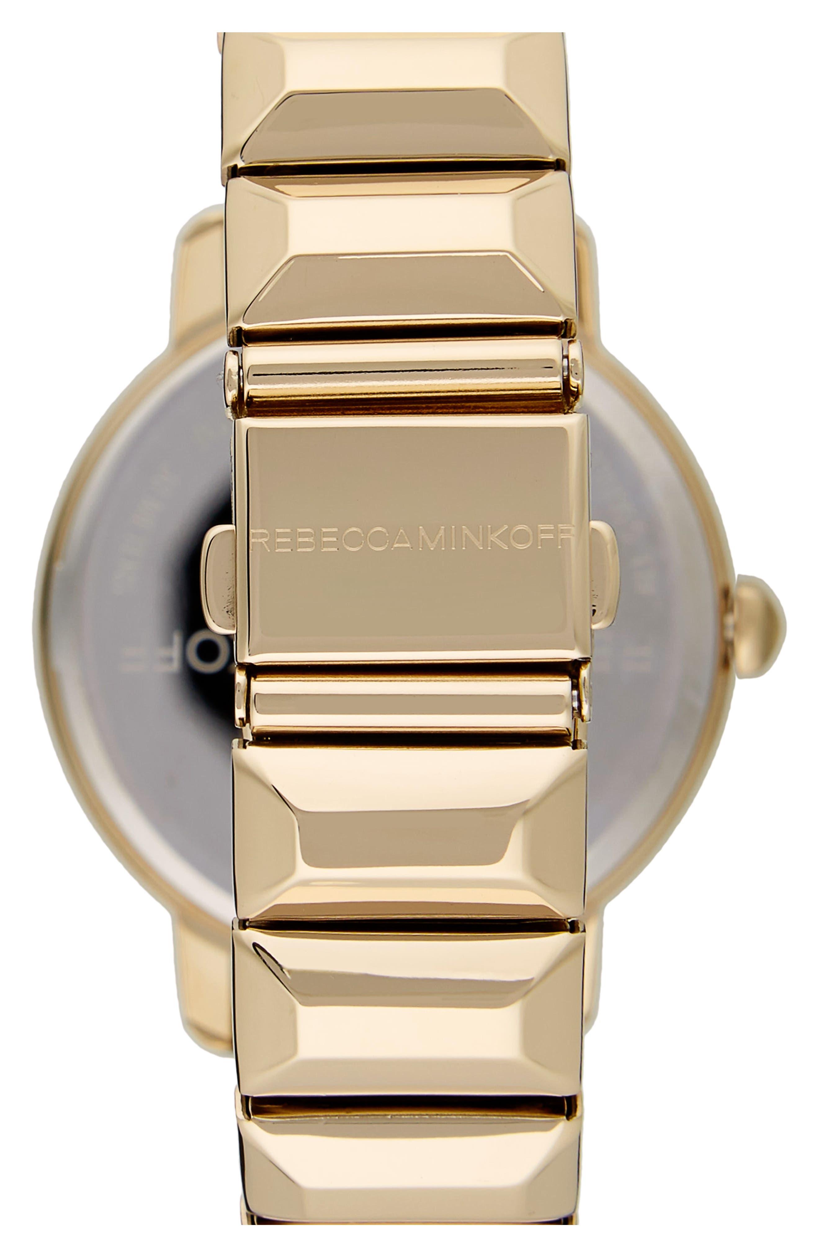 BFFL Bracelet Watch, 36mm,                             Alternate thumbnail 2, color,                             Gold/ Powder White/ Gold