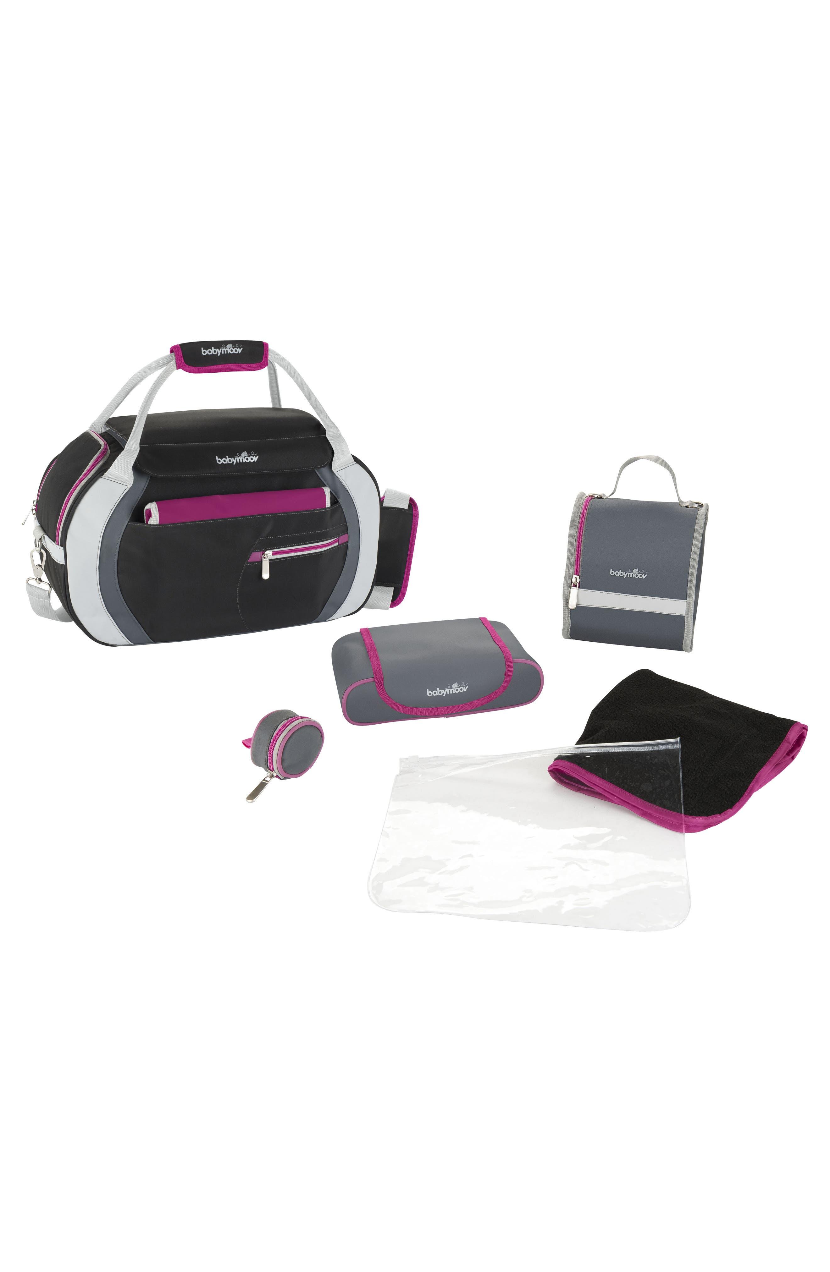 Sport Style Diaper Bag,                             Alternate thumbnail 3, color,                             Hibiscus