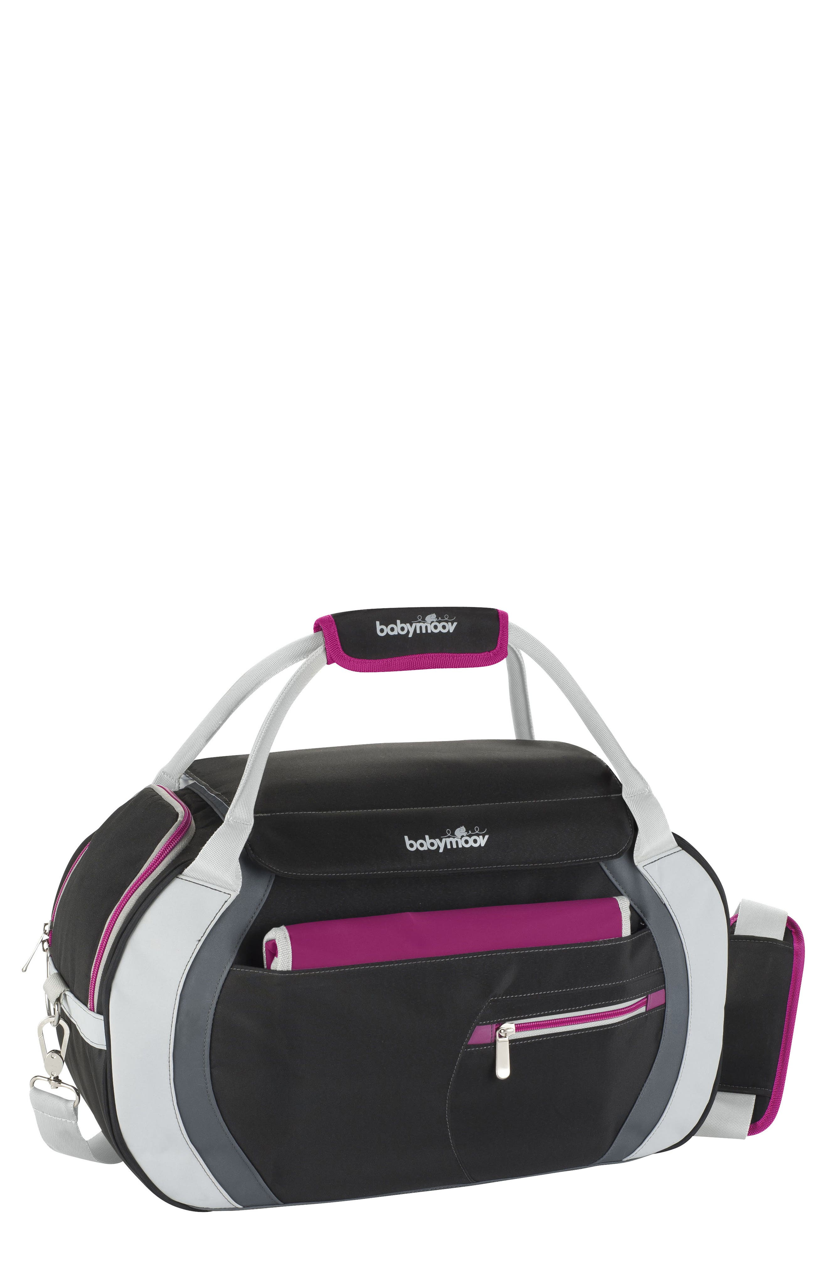 Sport Style Diaper Bag,                             Main thumbnail 1, color,                             Hibiscus