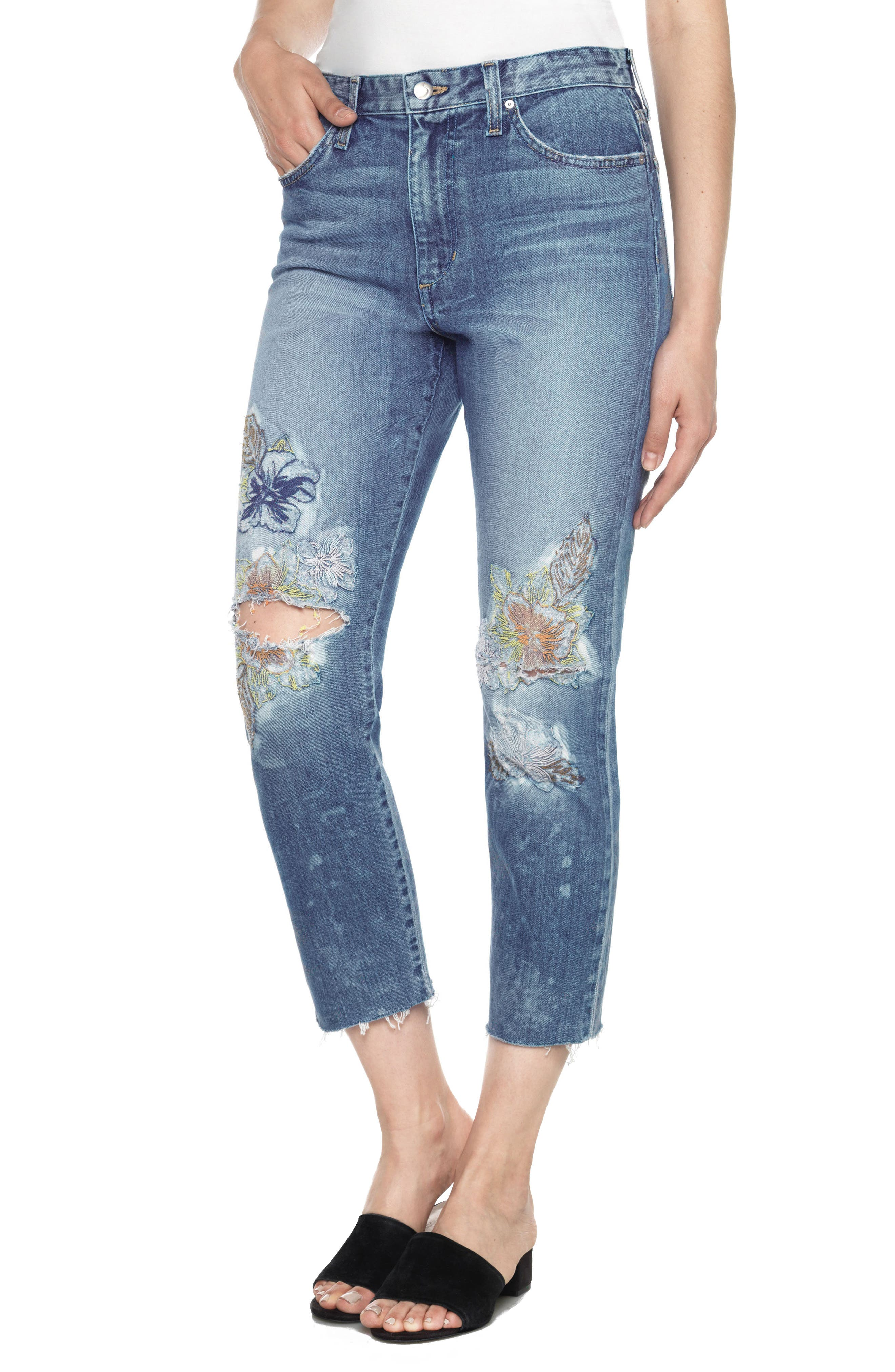 Joe's Debbie High Waist Crop Straight Leg Jeans (Natalya)