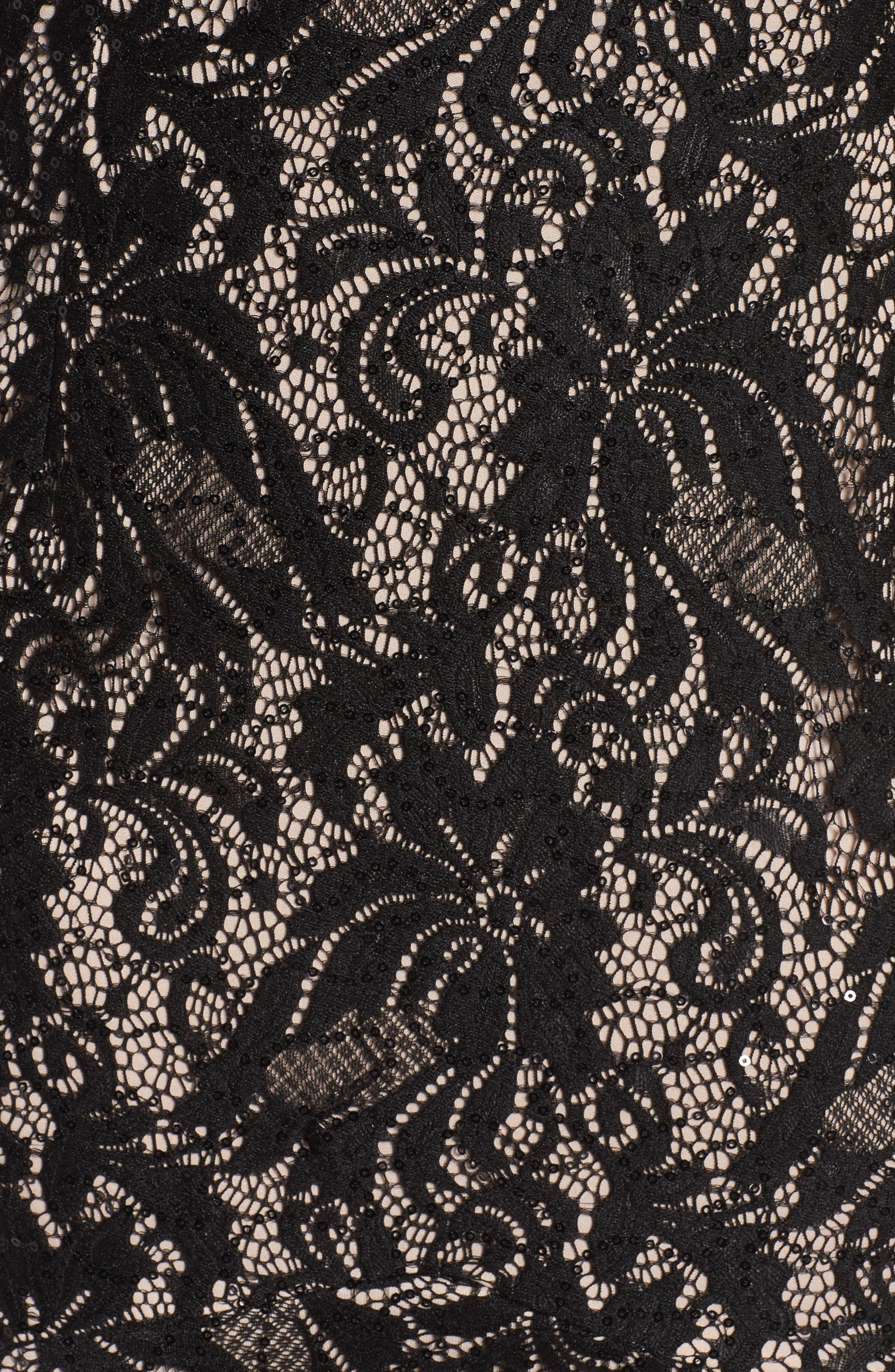 Alternate Image 5  - Alex Evenings High/Low Lace Mermaid Dress (Plus Size)