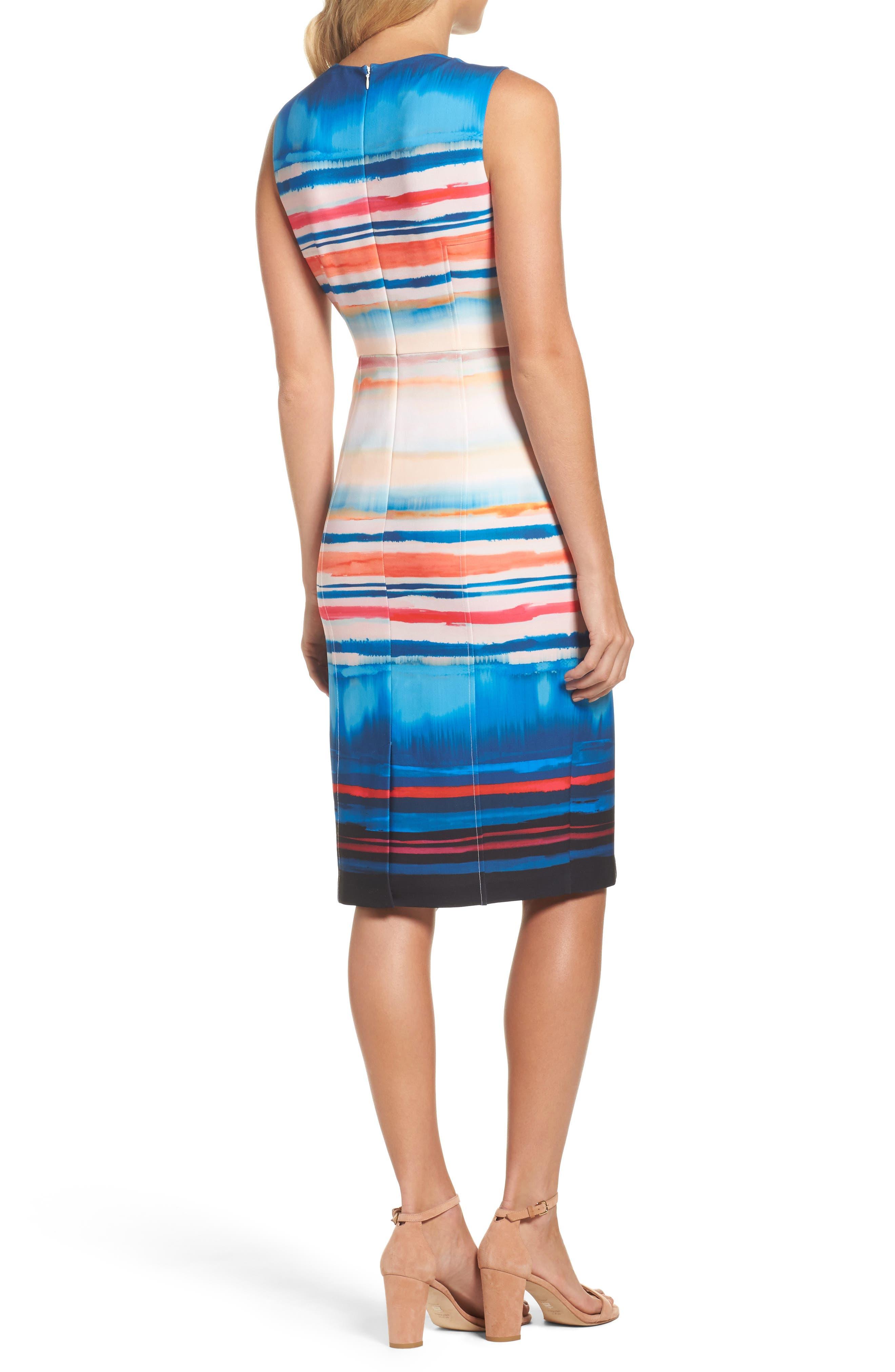 Alternate Image 2  - Adrianna Papell Scuba Sheath Dress