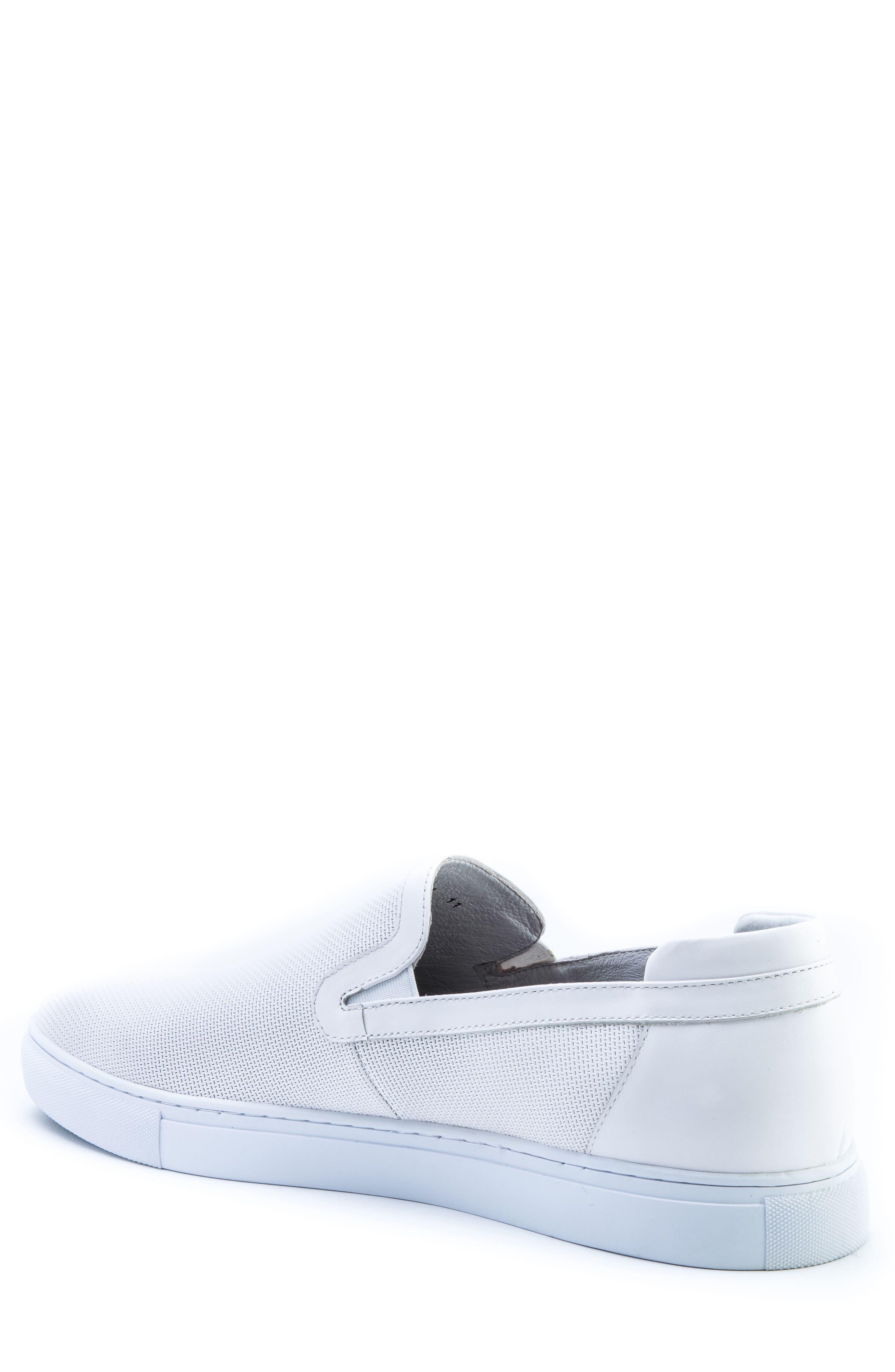 Grant Sneaker,                             Alternate thumbnail 2, color,                             White Leather