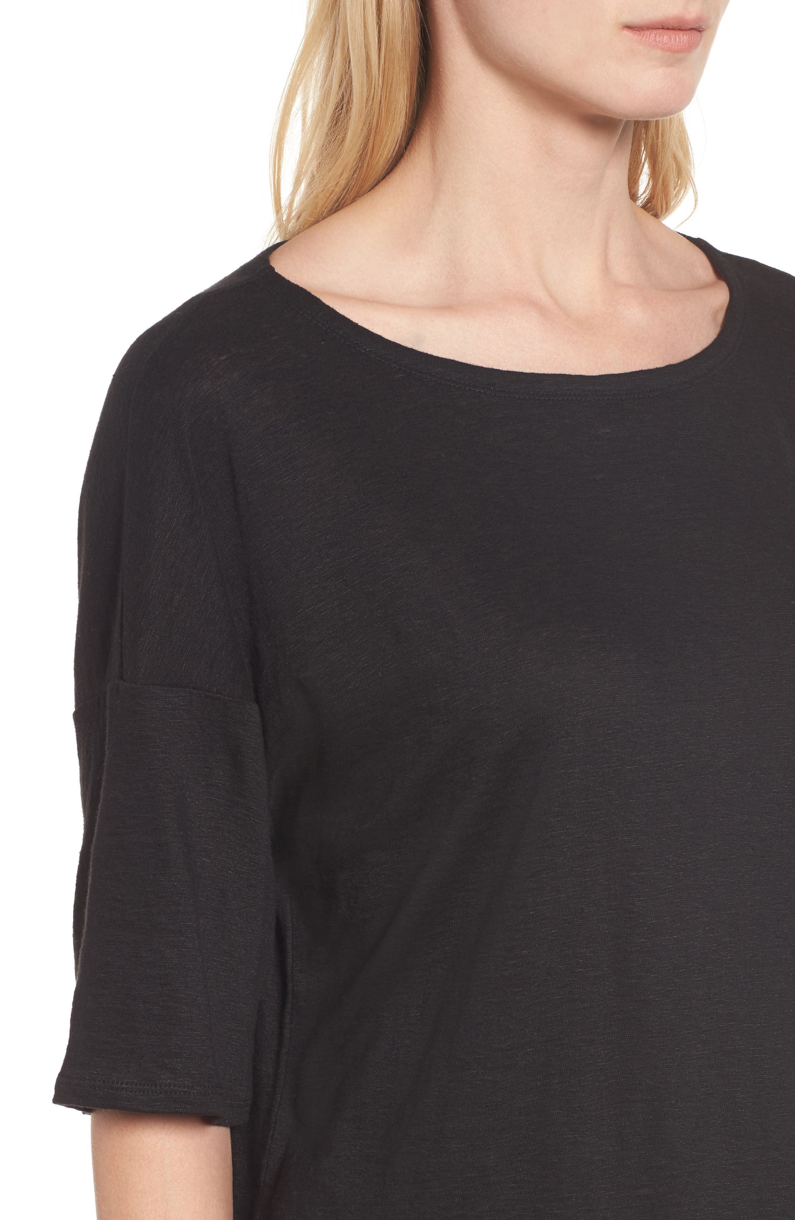 Alternate Image 4  - Eileen Fisher Organic Linen Jersey Boxy Top