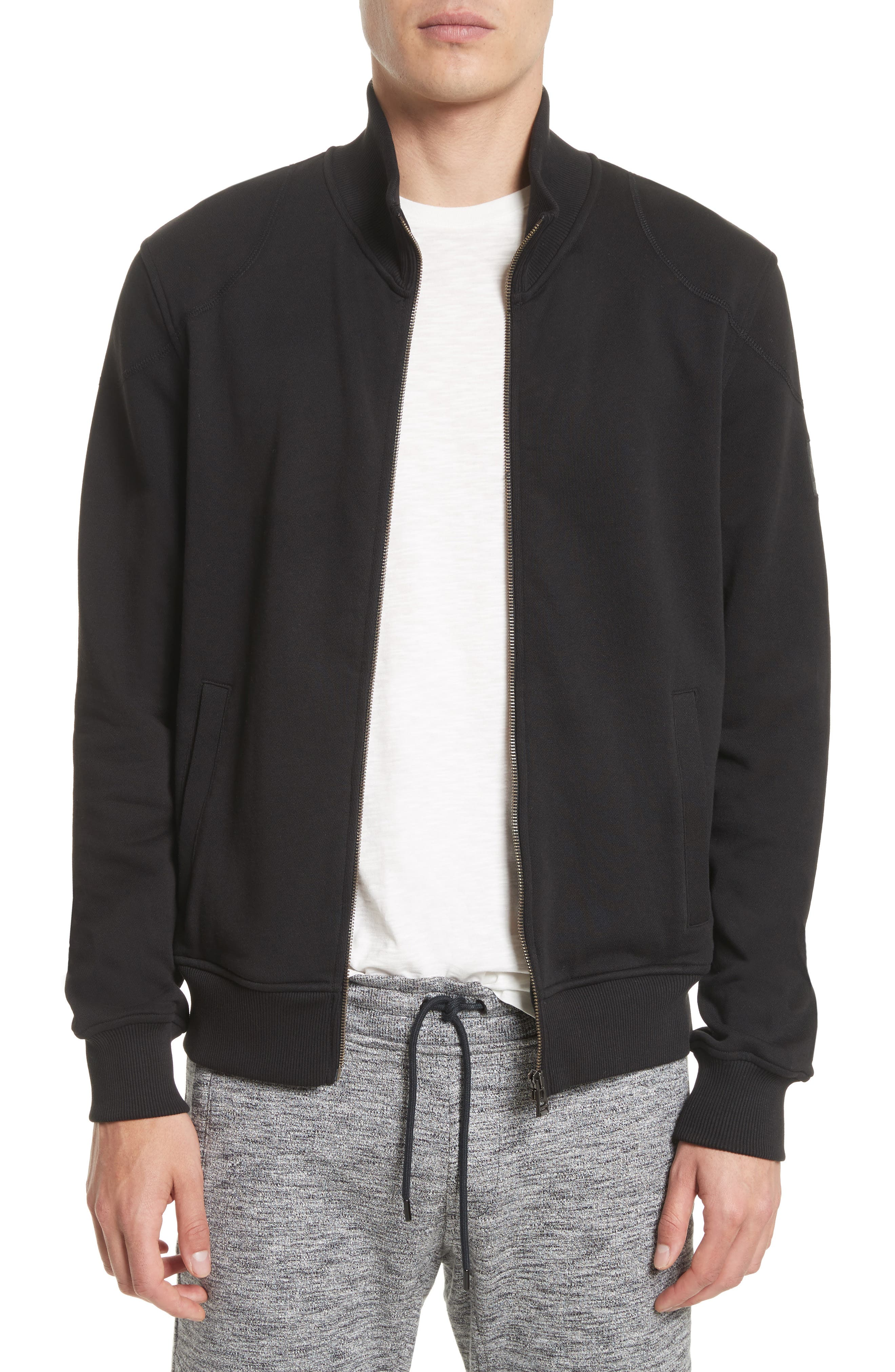 Belstaff Staplefield Mock Neck Full Zip Sweater