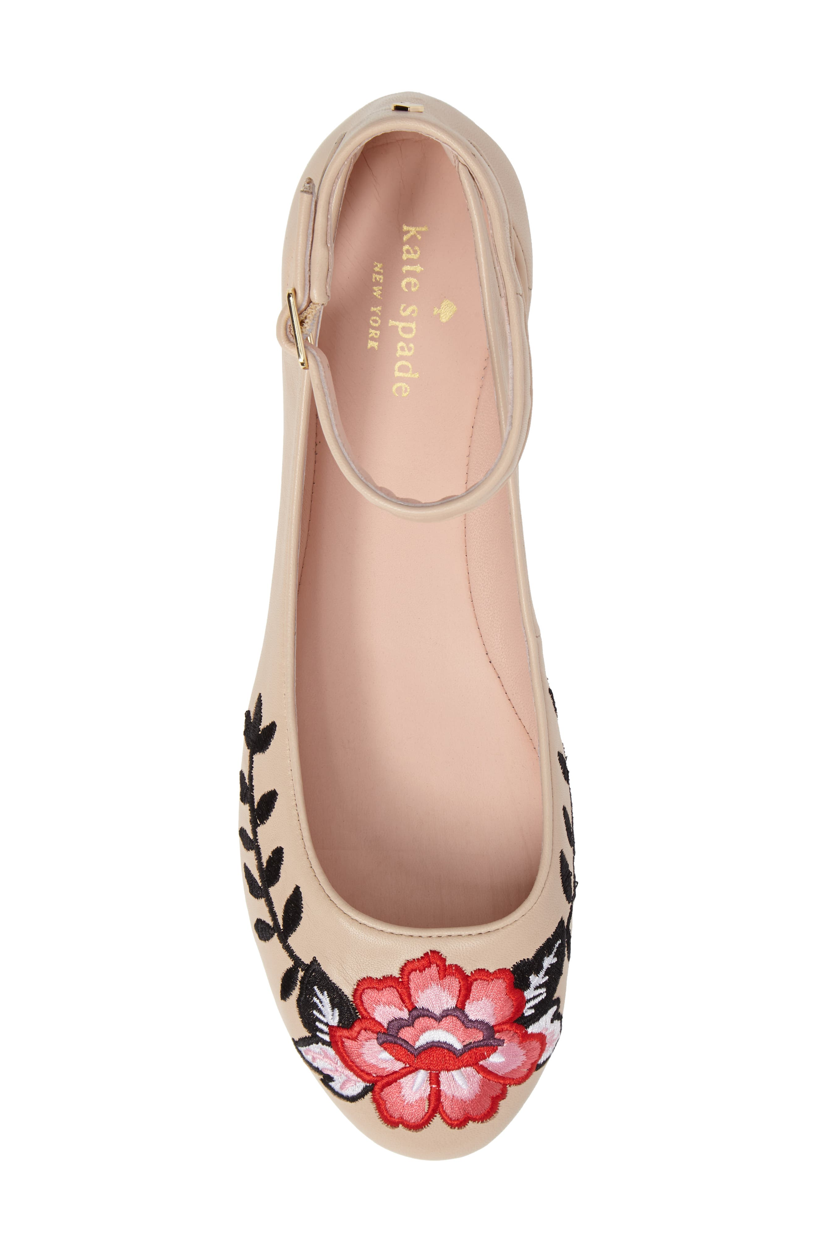 waren embroidered flat,                             Alternate thumbnail 5, color,                             Sand Nappa