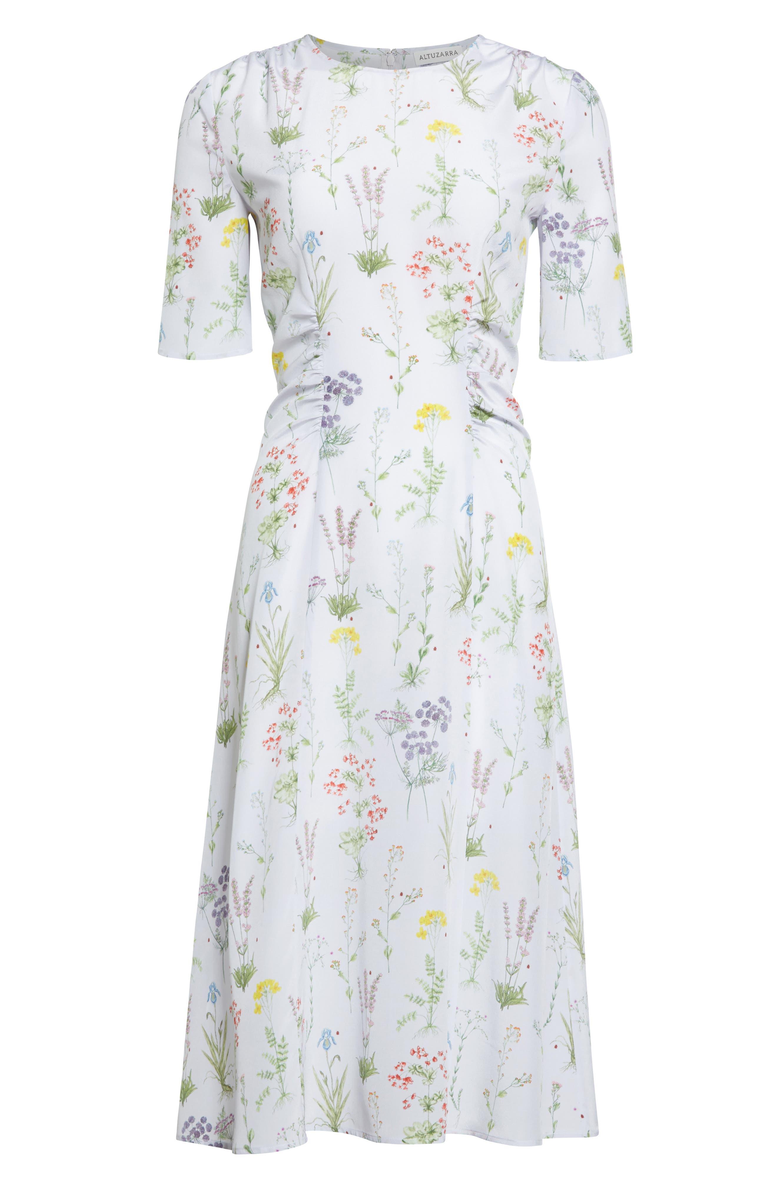 Alternate Image 5  - Altuzarra Sylvia Floral Silk A-Line Dress