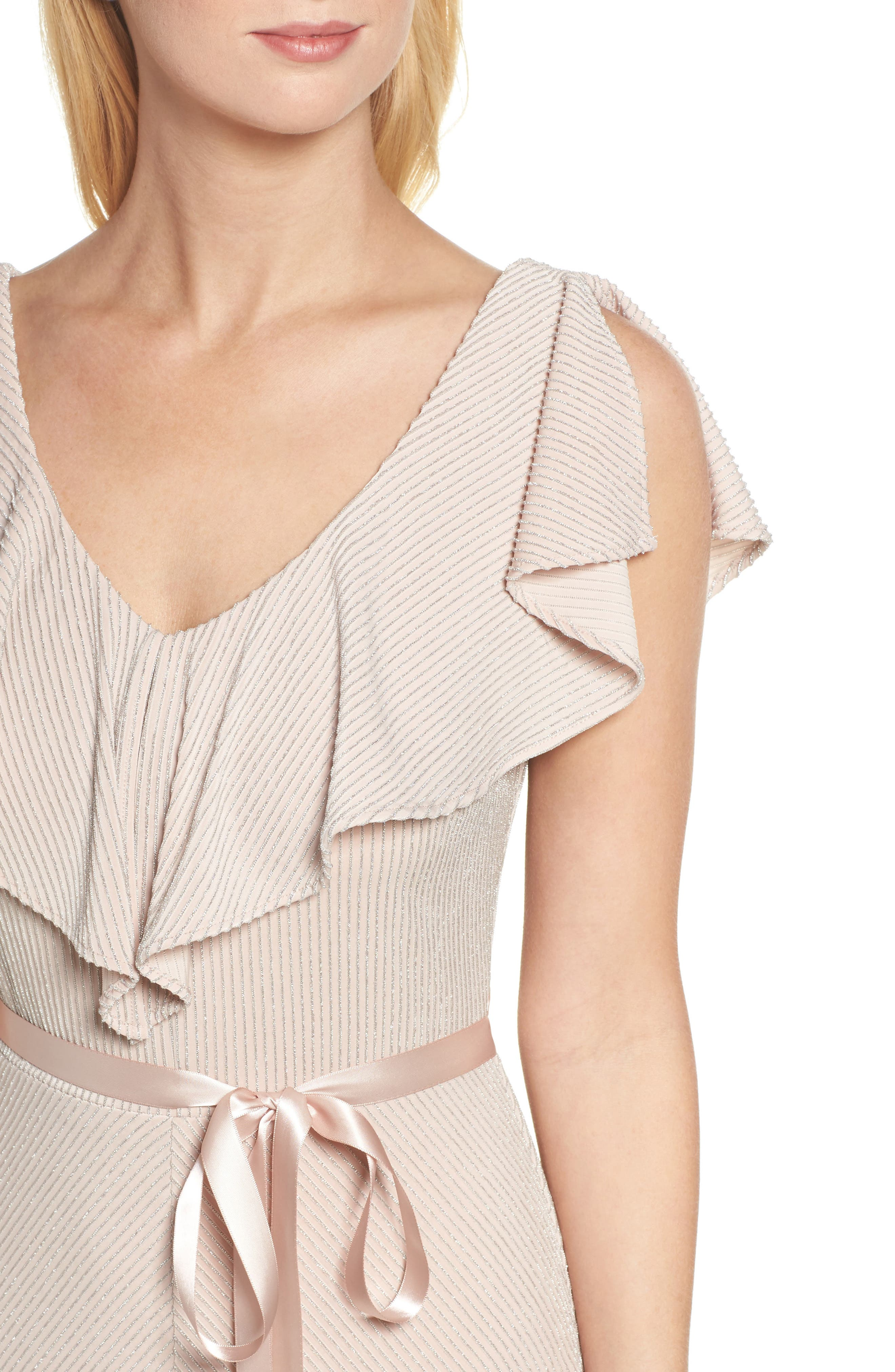 Alternate Image 4  - Taylor Dresses Ruffle Maxi Dress