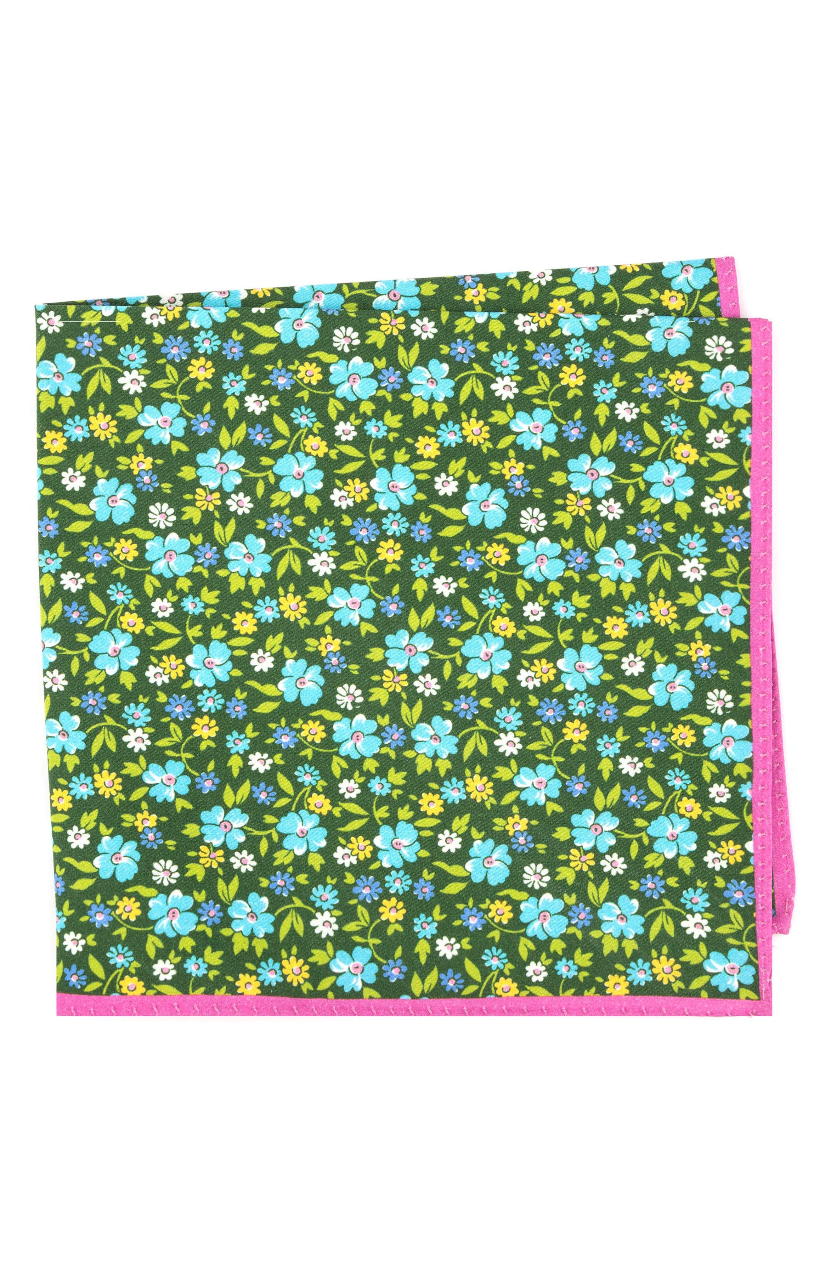 Main Image - Ted Baker London Floral Cotton & Silk Pocket Square